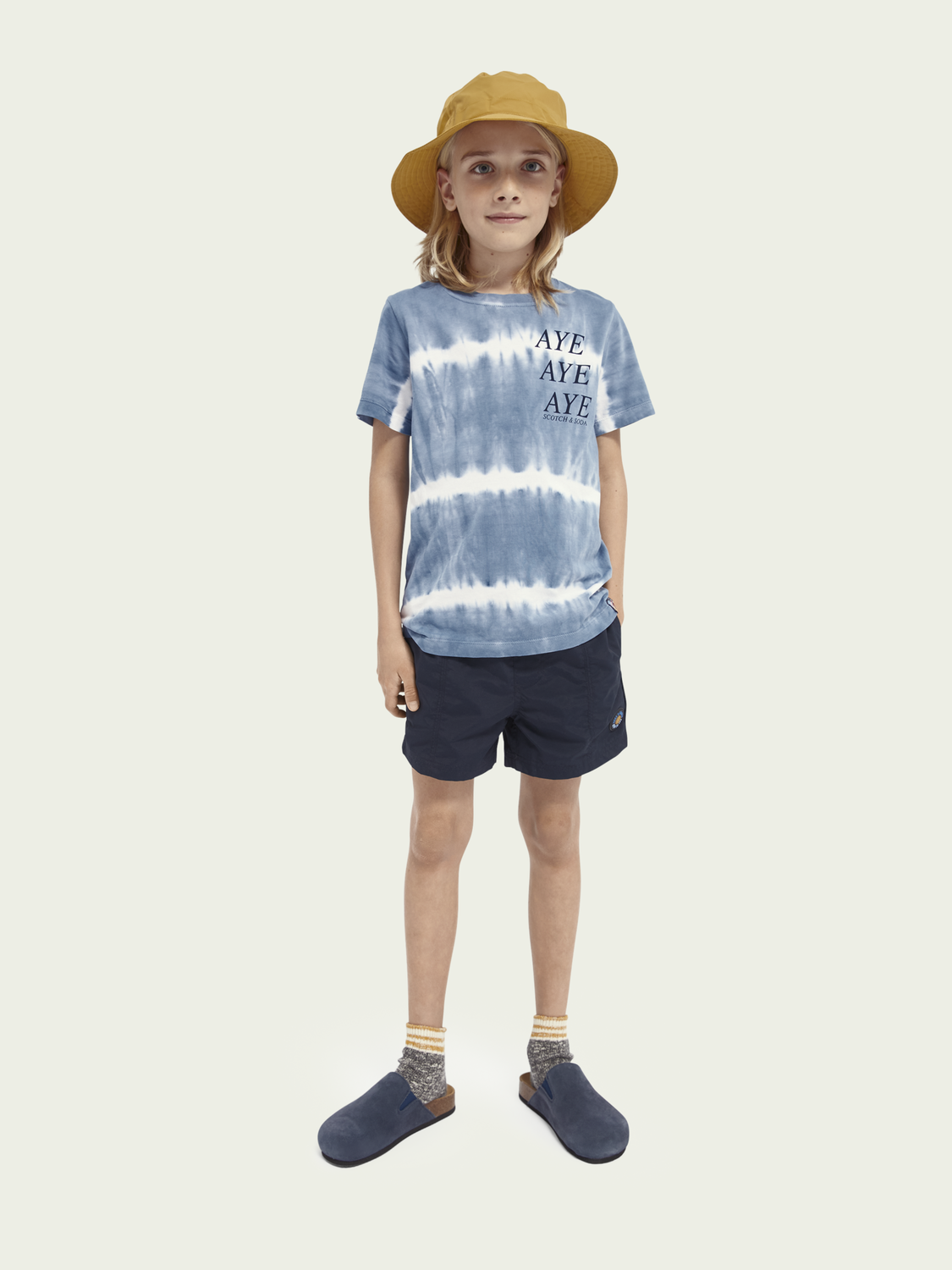 Kids Tie-dye short-sleeved organic cotton T-shirt