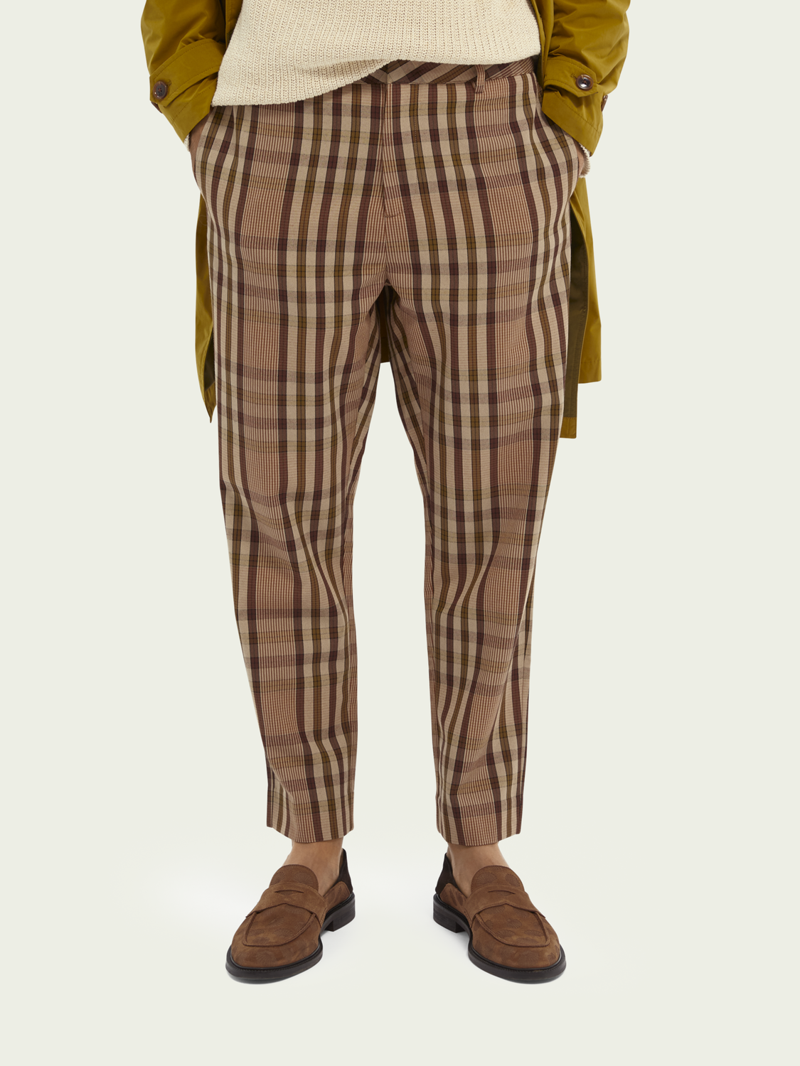 Men Fave checked yarn-dyed chino