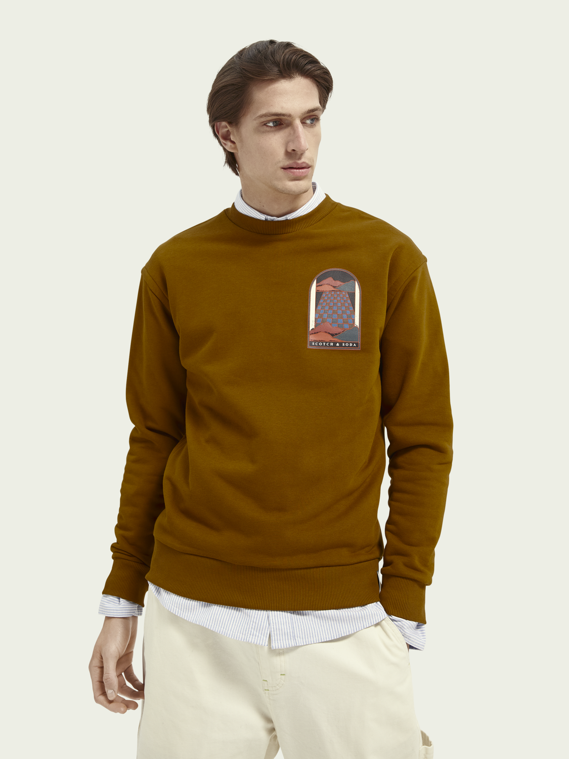 Men Organic cotton-blend artwork sweater