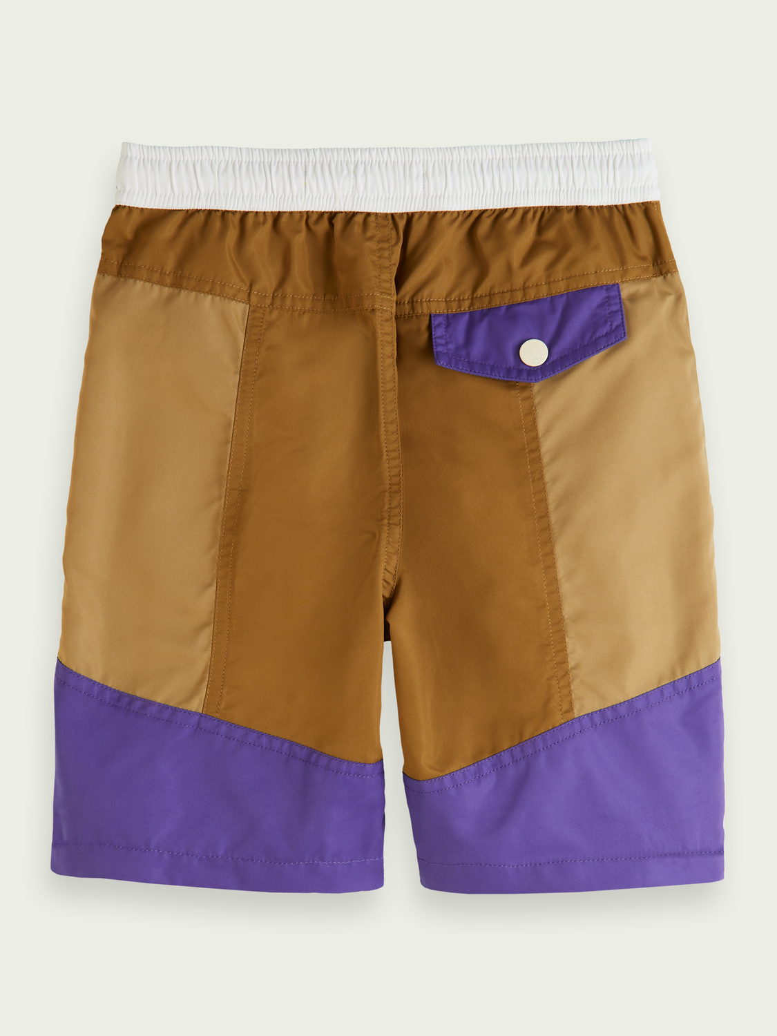Kids Colour-blocked recycled polyester board shorts