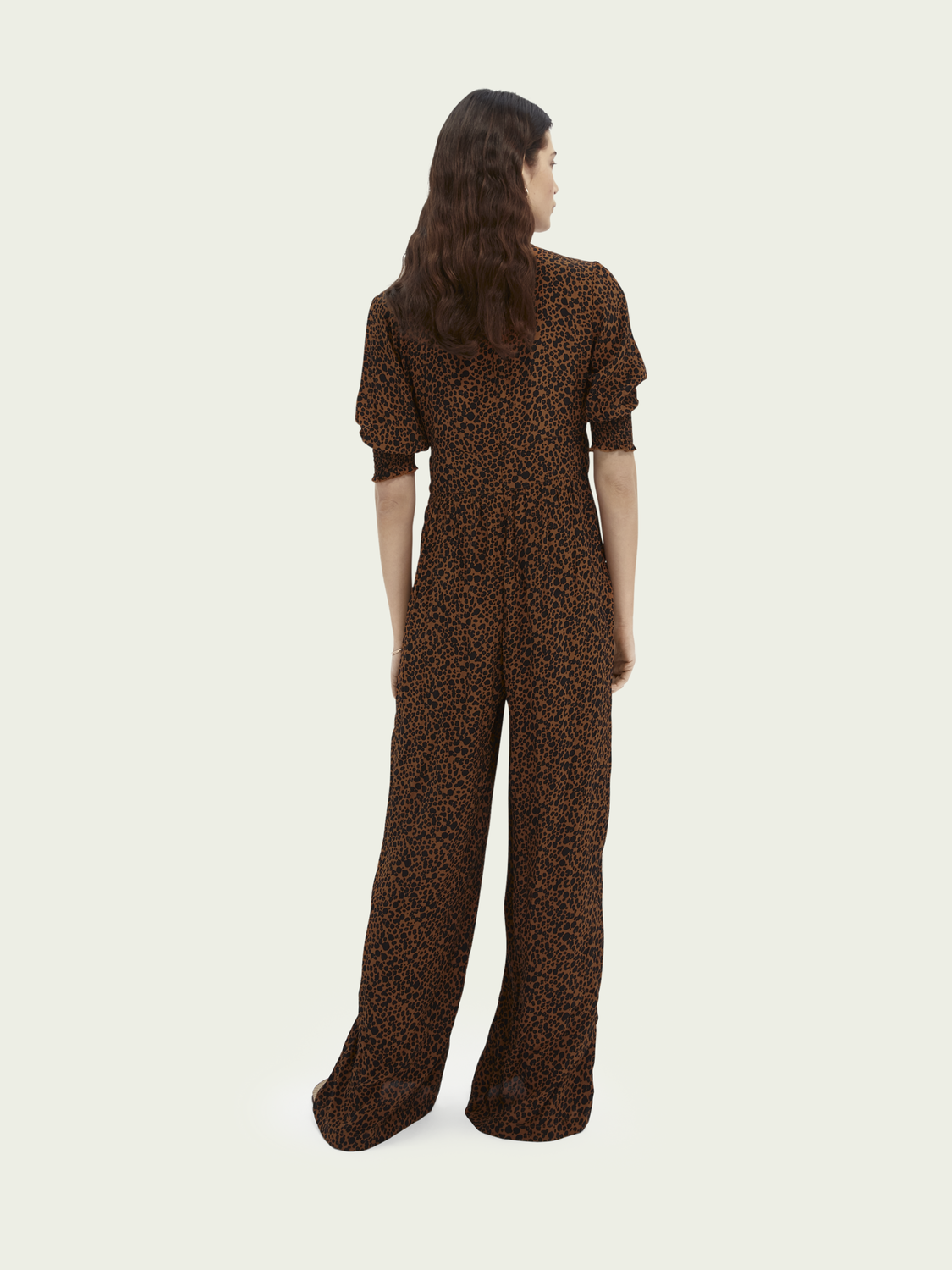 Women Printed V-neck jumpsuit