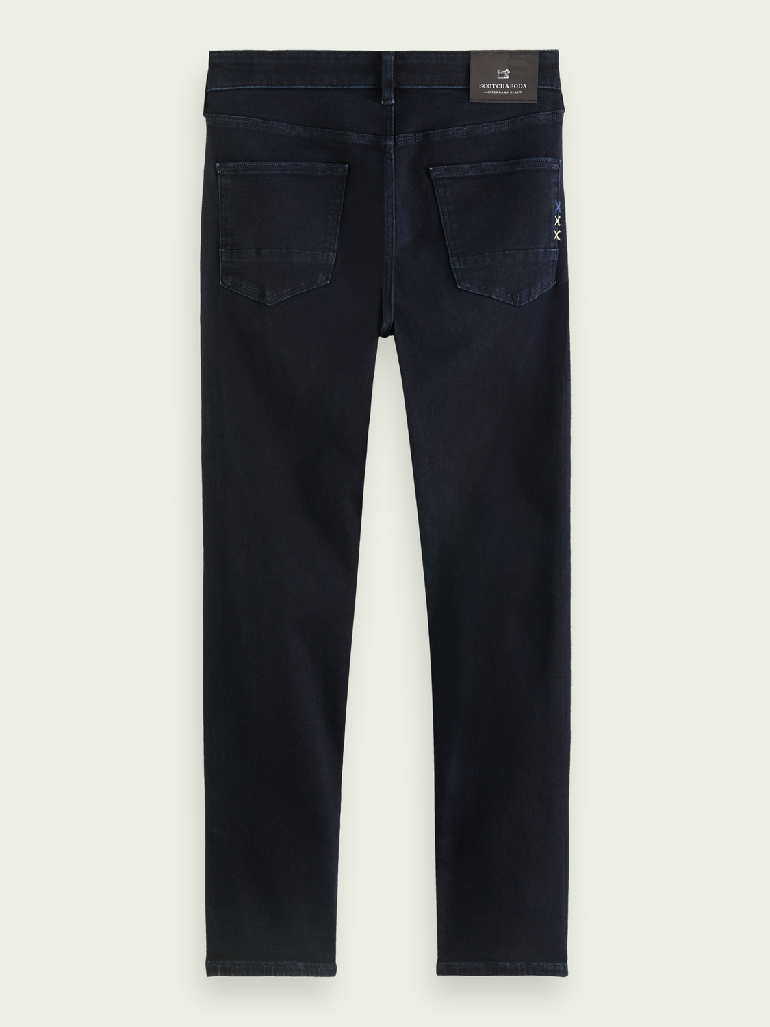 Men Ralston regular slim-fit cotton-blend jeans - Pitch Dark