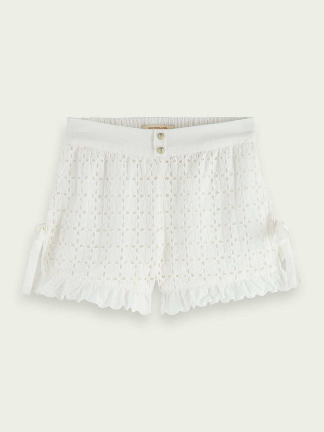 Kids Brodery anglaise cotton shorts