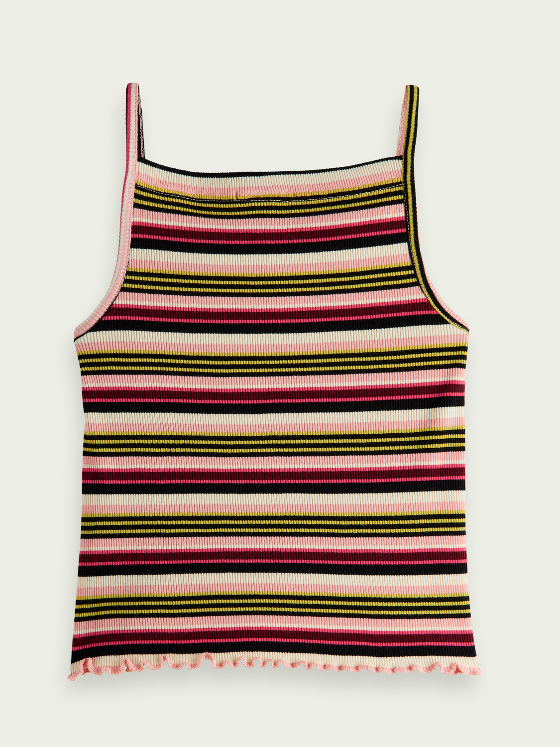 Kids Striped yarn-dyed tank top