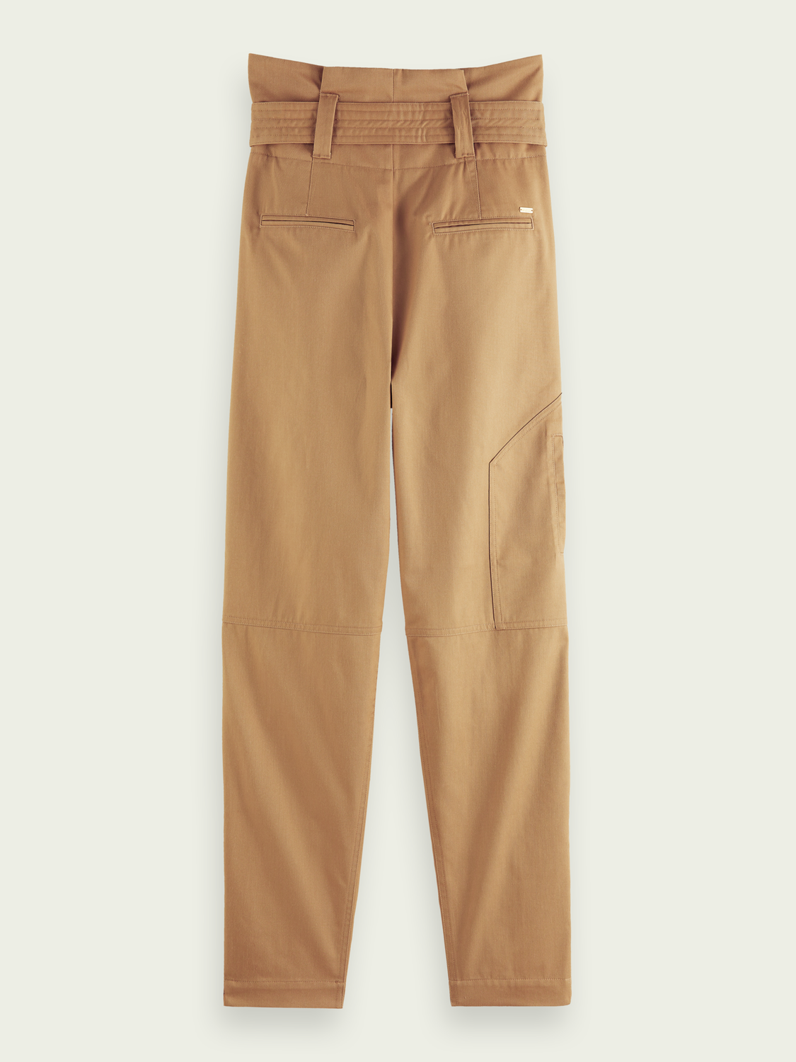Women Paperbag high-rise cargo trousers
