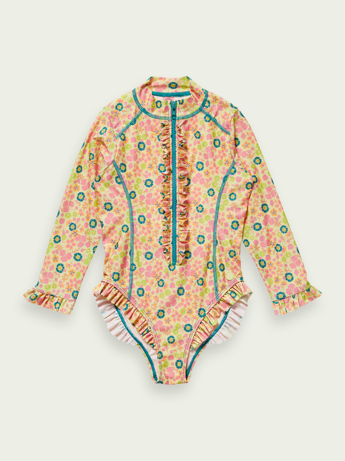 Kids Printed long-sleeved swimsuit