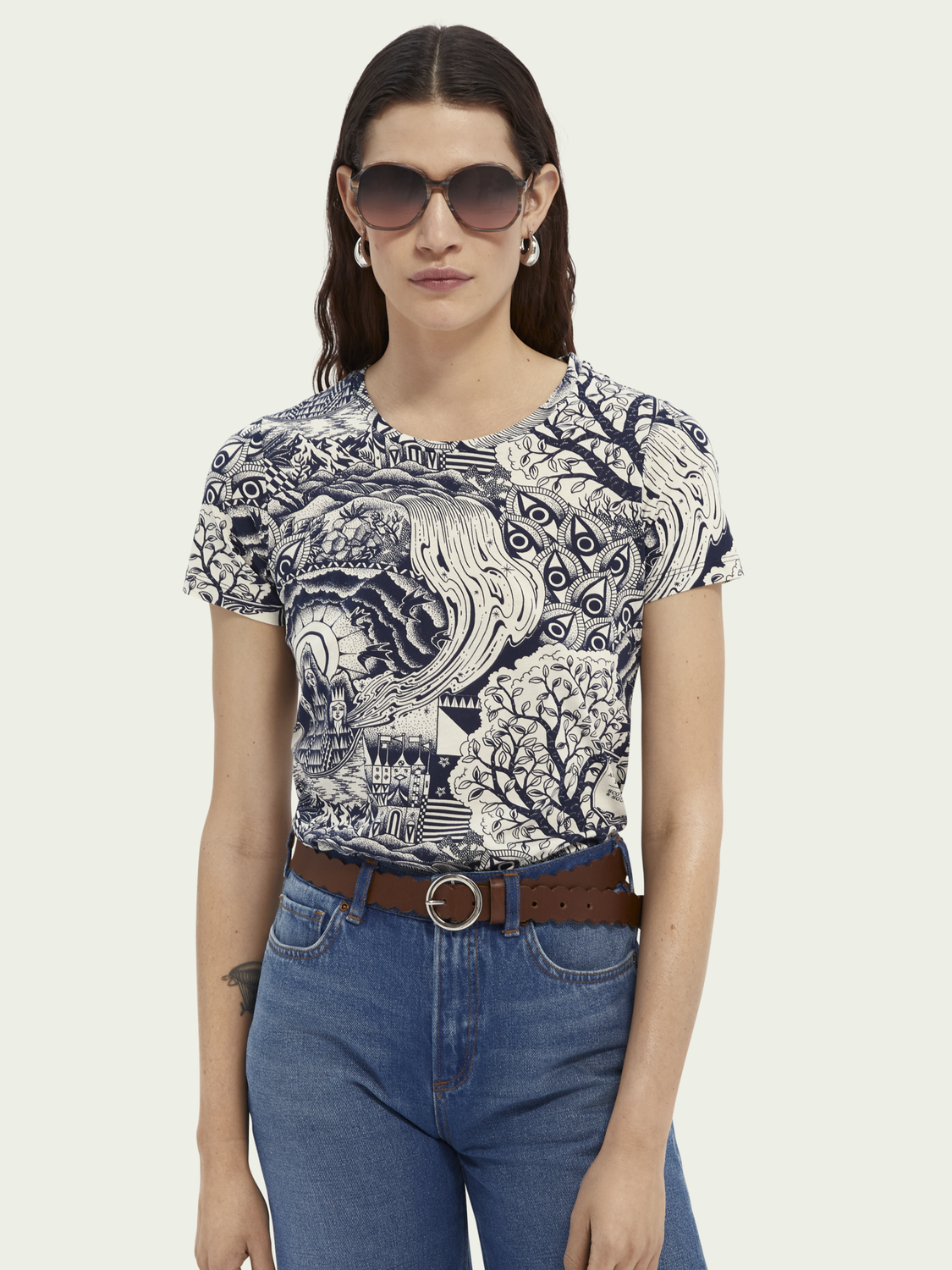 Women Printed cotton T-shirt