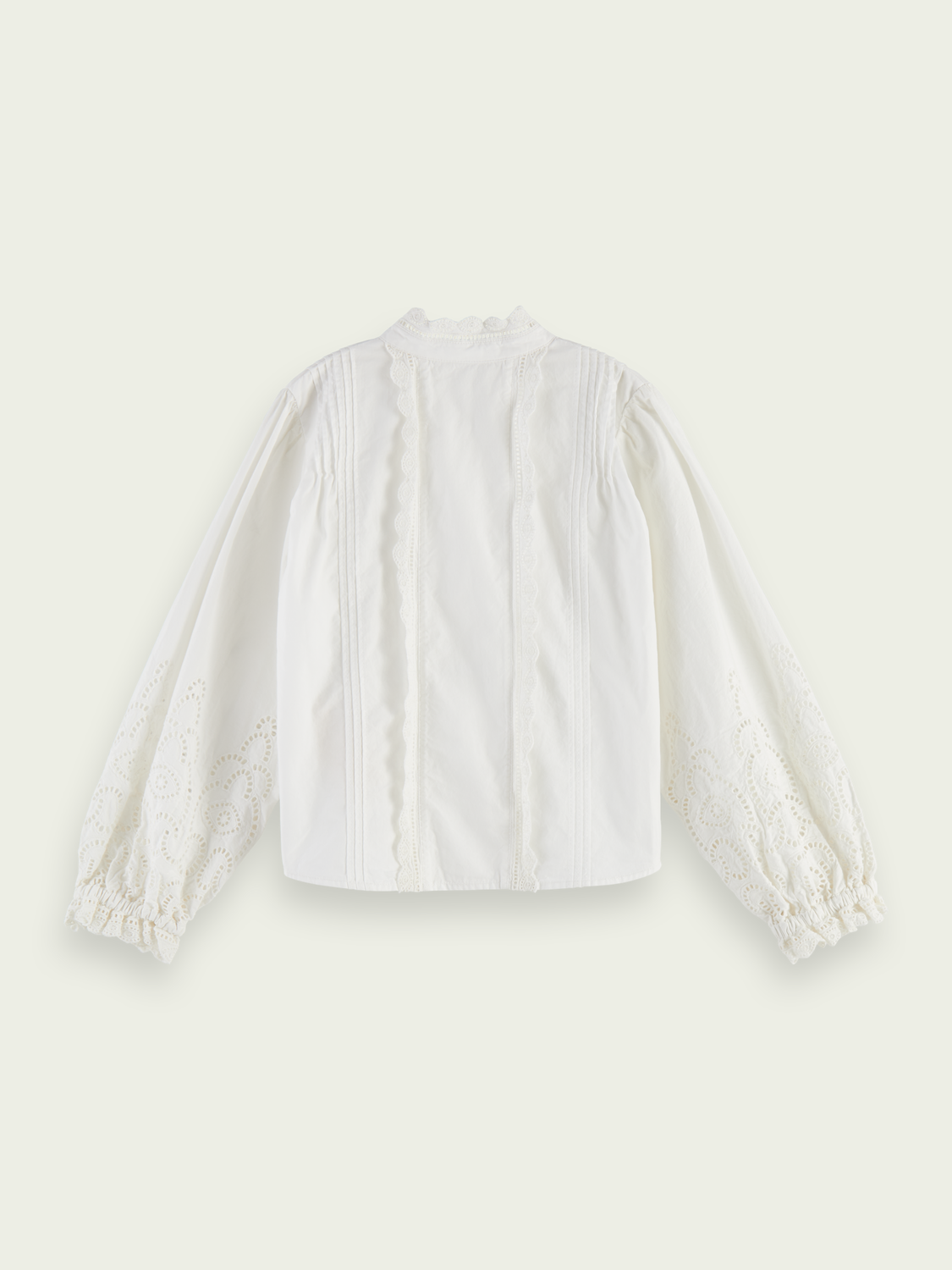 Kids Broderie anglaise organic cotton top