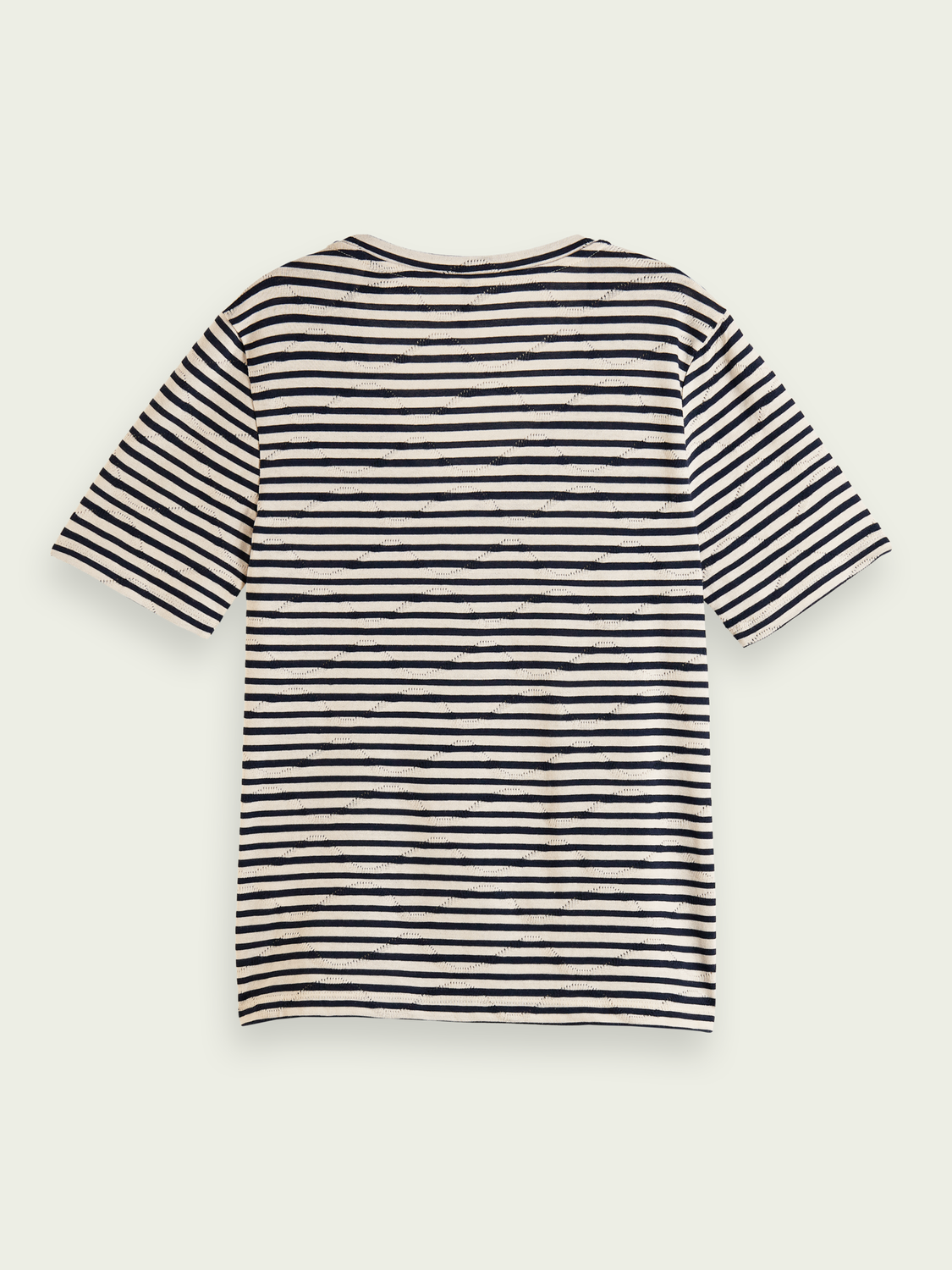 Women Striped pointelle organic cotton T-shirt