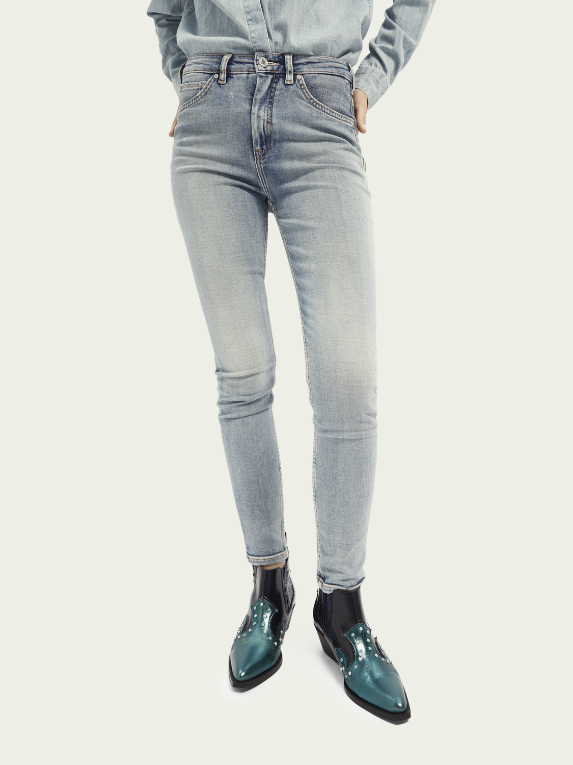 Damen Haut High-Rise Skinny Jeans – Showcase