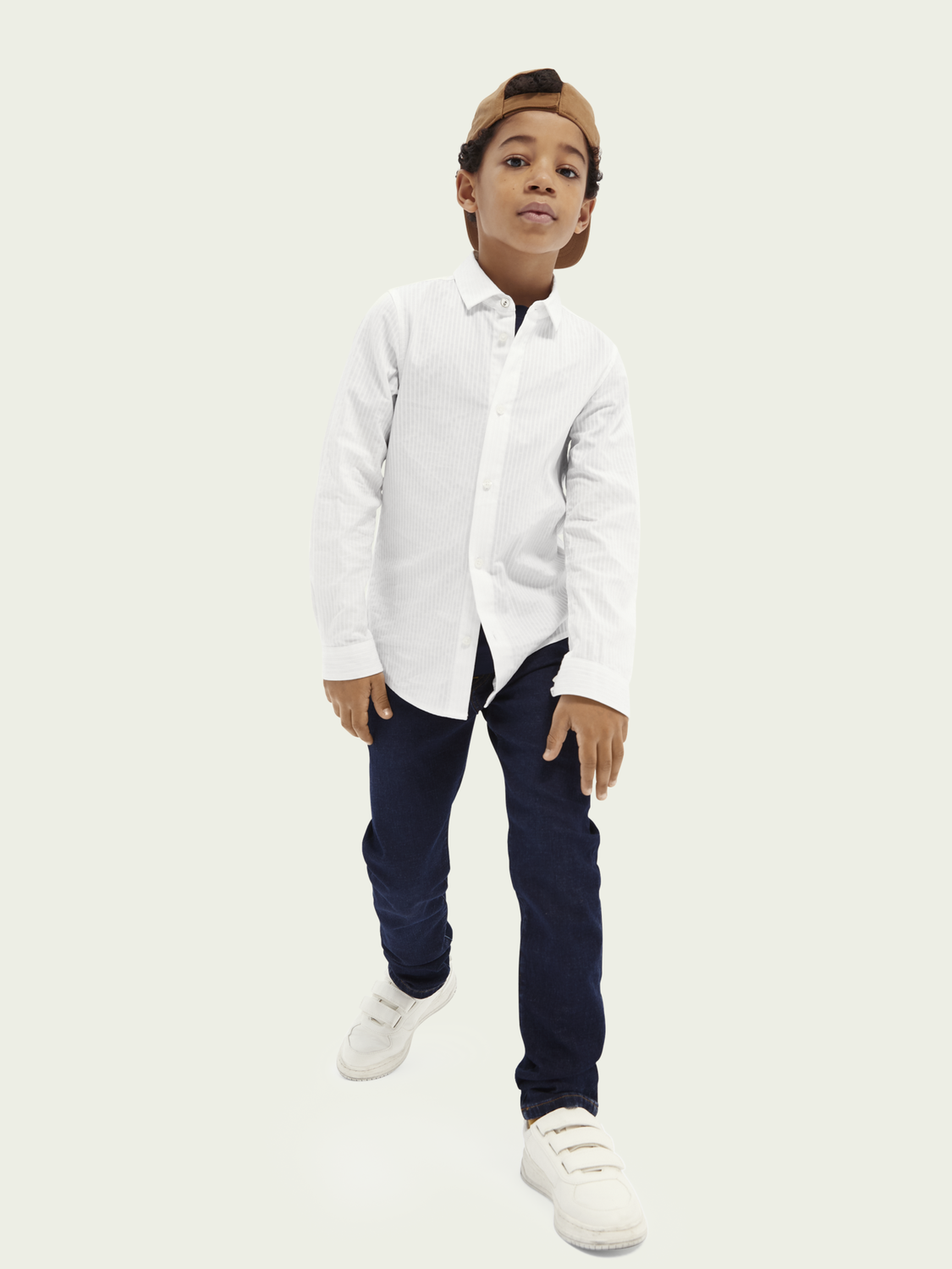 Kids Slim fit cotton dress shirt