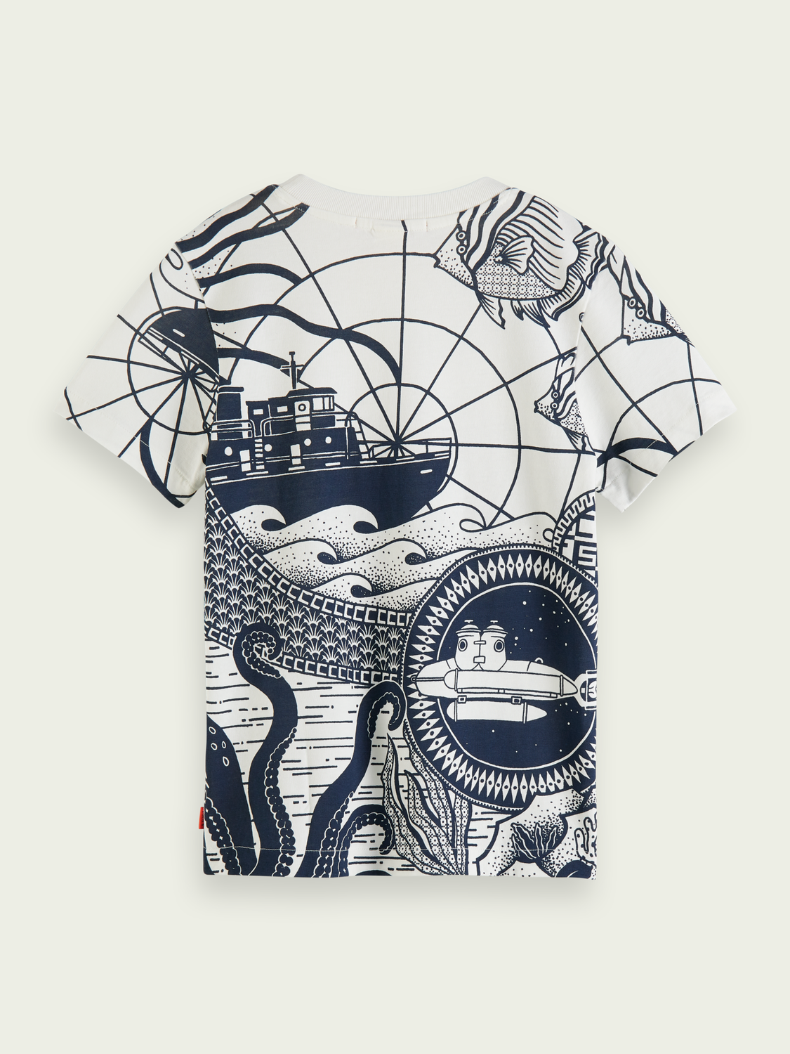 Kids Short-sleeved printed organic cotton T-shirt