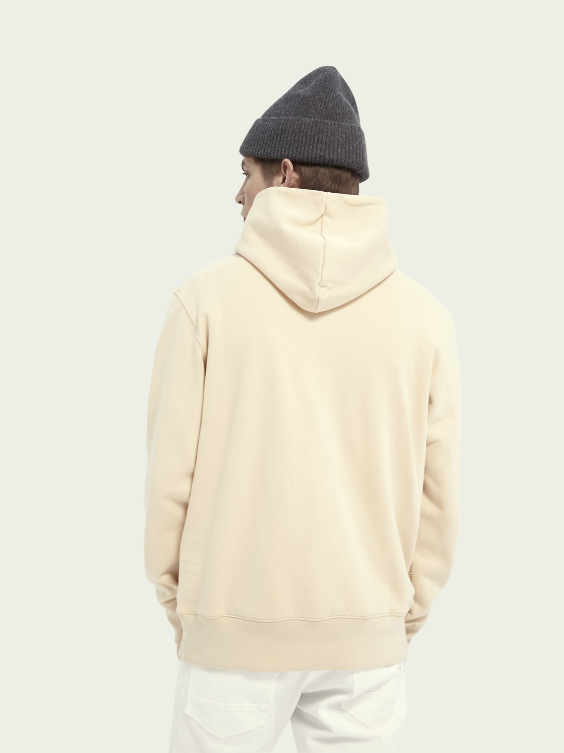 Men Signature cotton hoodie