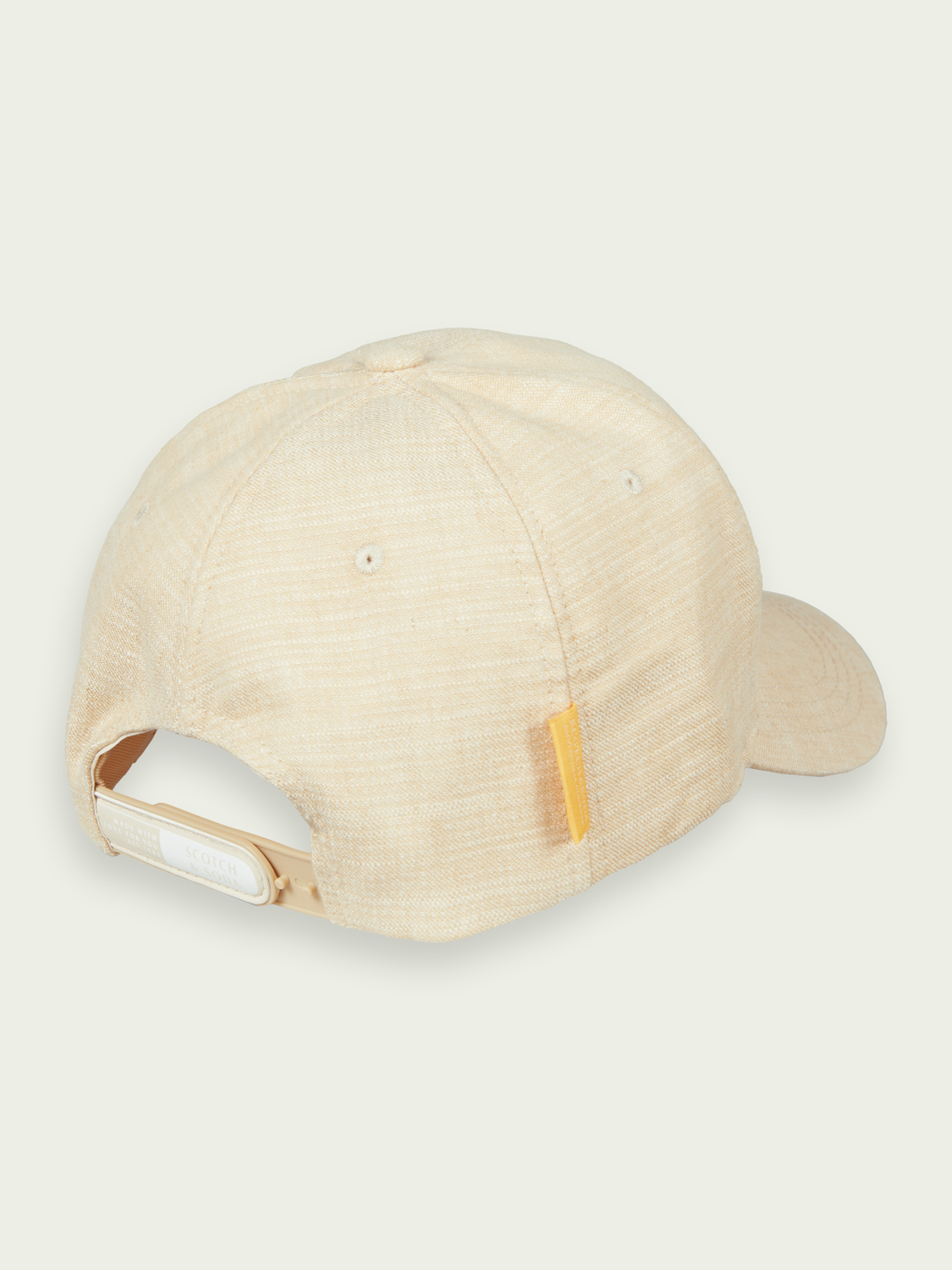 Men Classic cotton-linen blend 6-panel cap