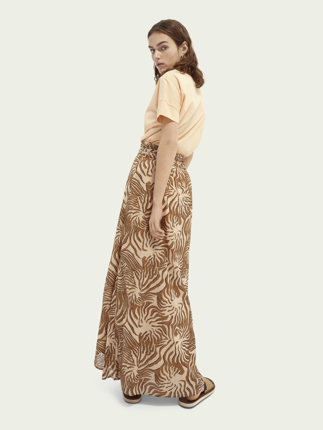 Women Printed knot detailed organic cotton skirt