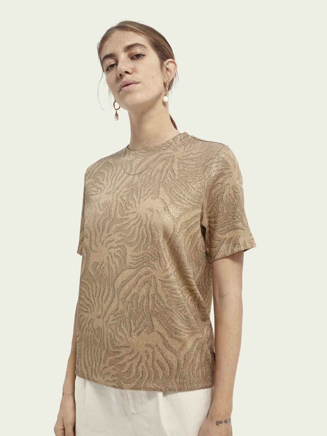 Women Printed relaxed-fit ECOVERO™-blend T-shirt