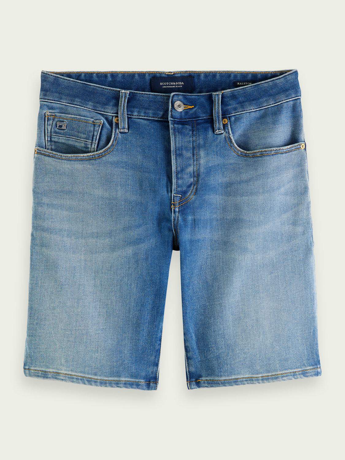Heren Ralston denim short - Fast Mover