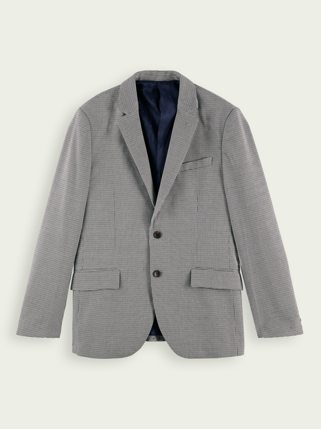 Men Classic single-breasted yarn-dyed blazer