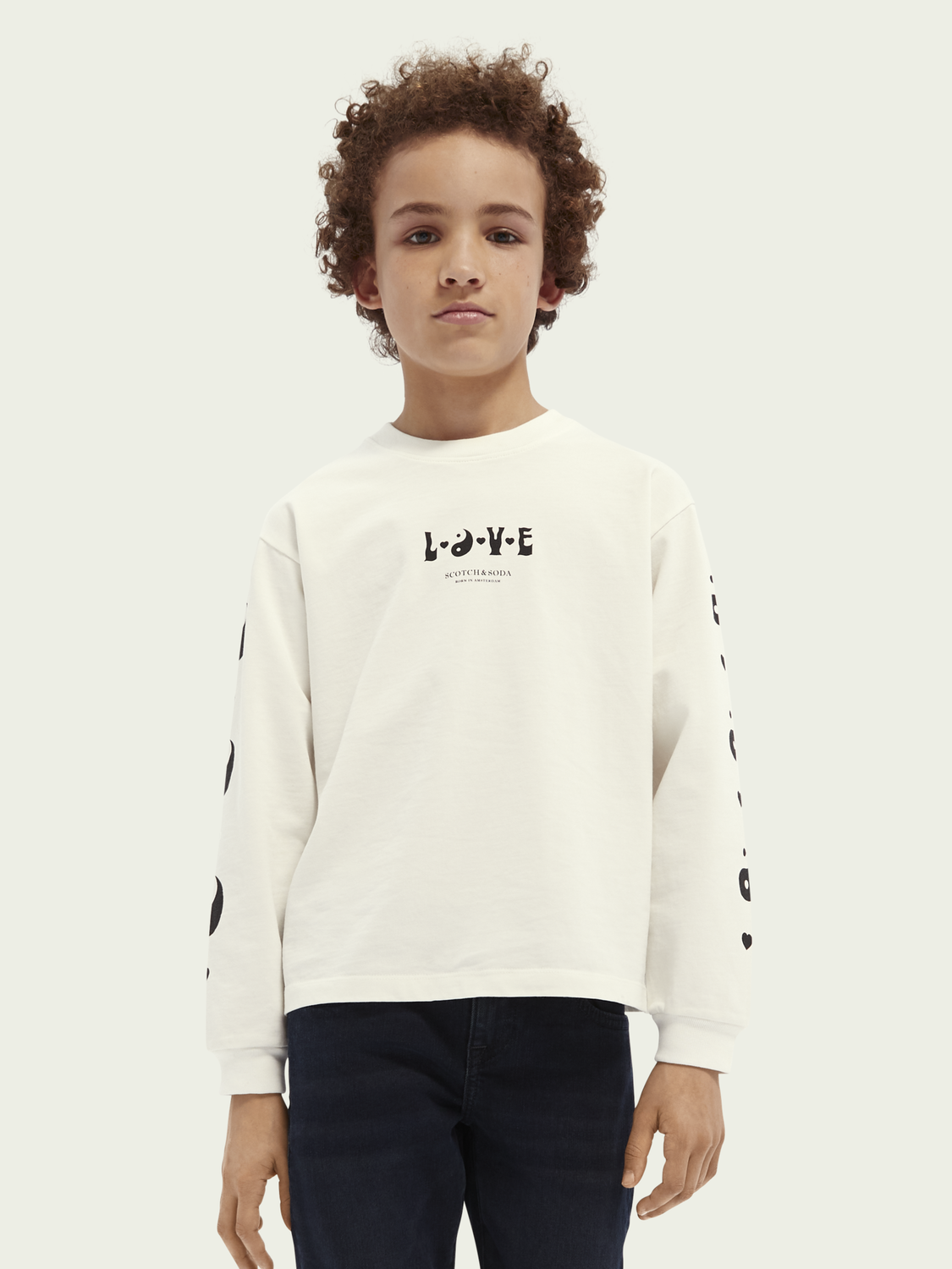 Women BORN TO LOVE kids unisex organic cotton long-sleeved T-shirt