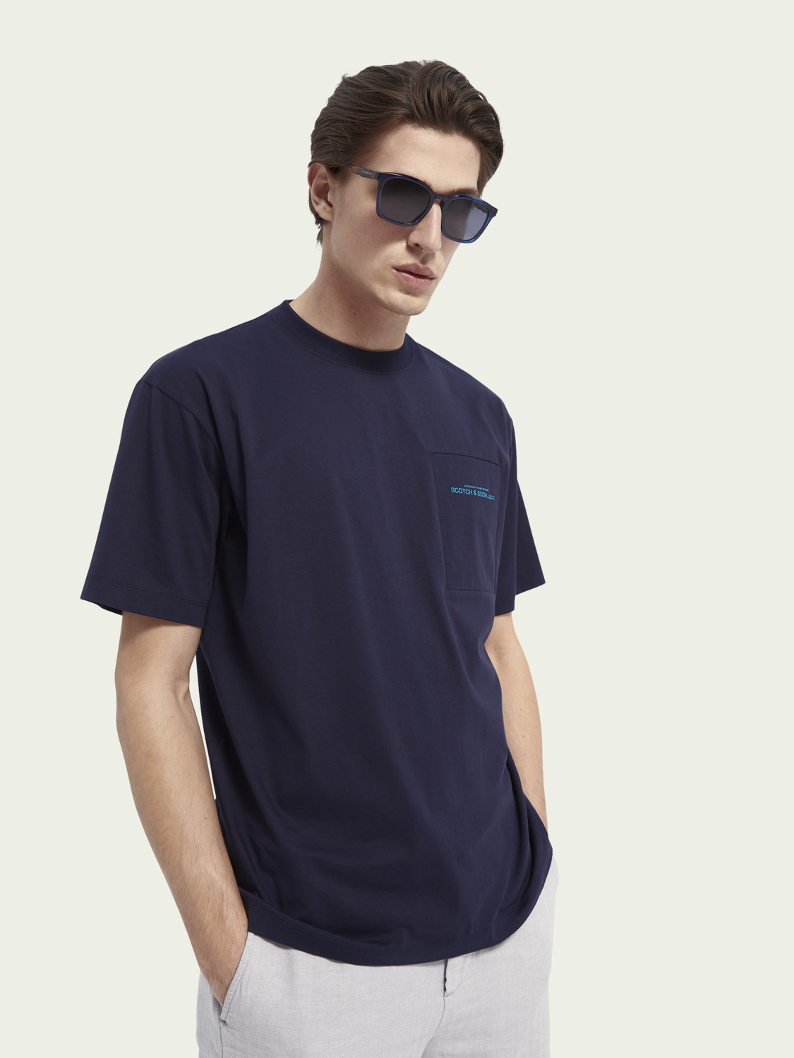 Men Relaxed-fit mercerized cotton T-shirt