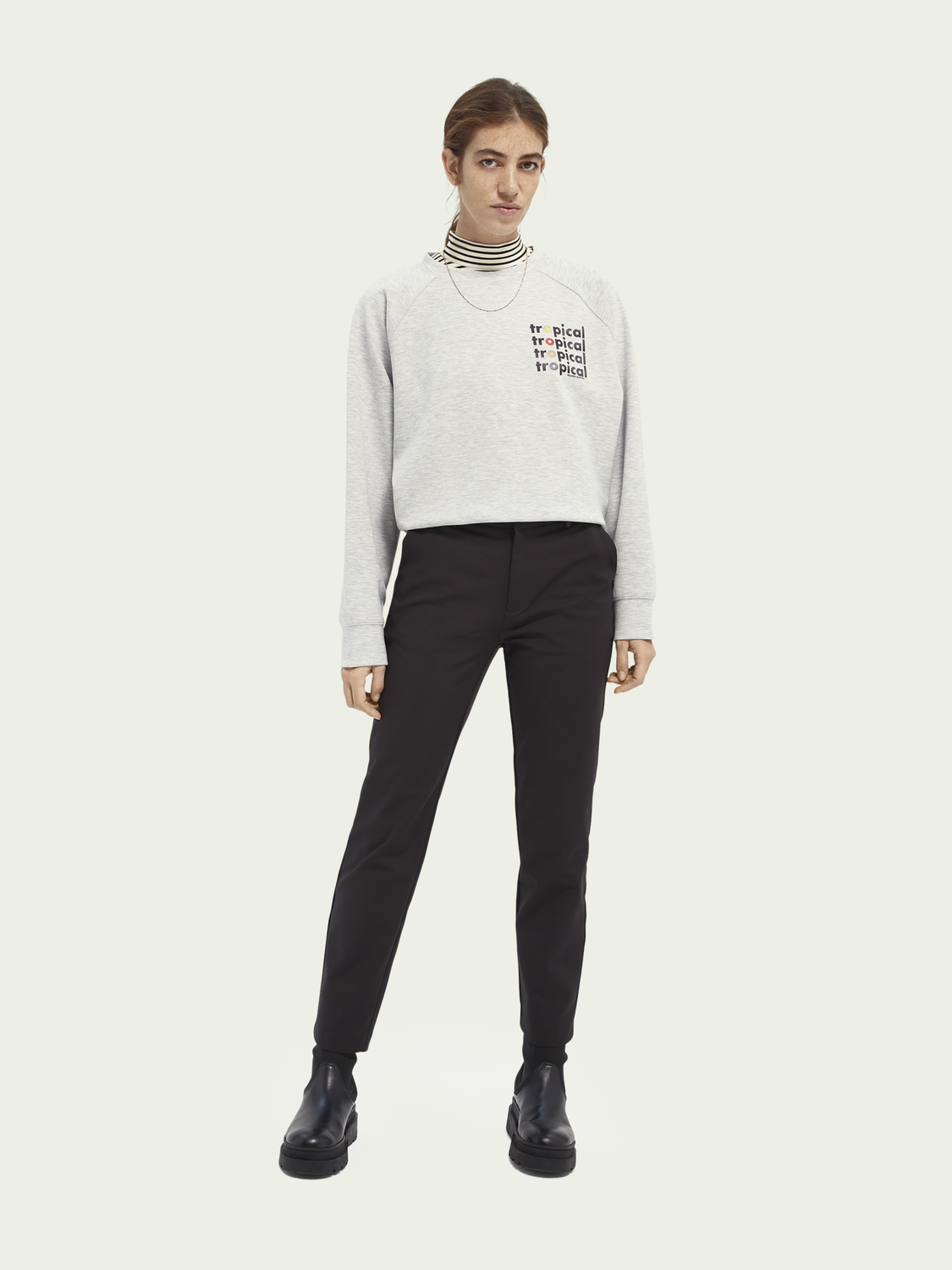 Women Graphic crew neck sweater