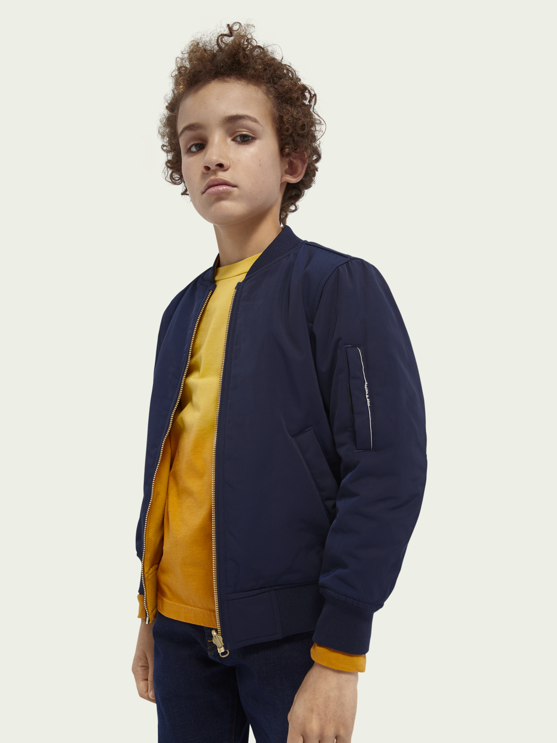 Kids Reversible cotton-blend artwork bomber jacket