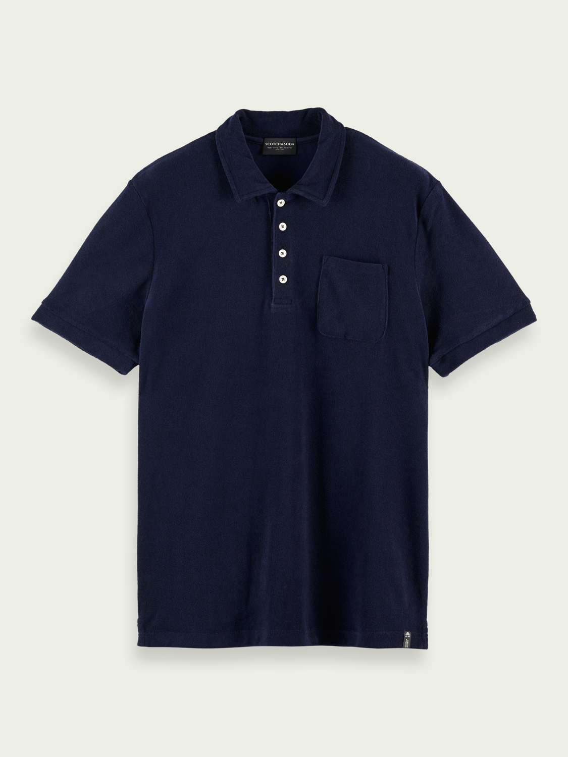 Men Terry-cloth organic cotton polo