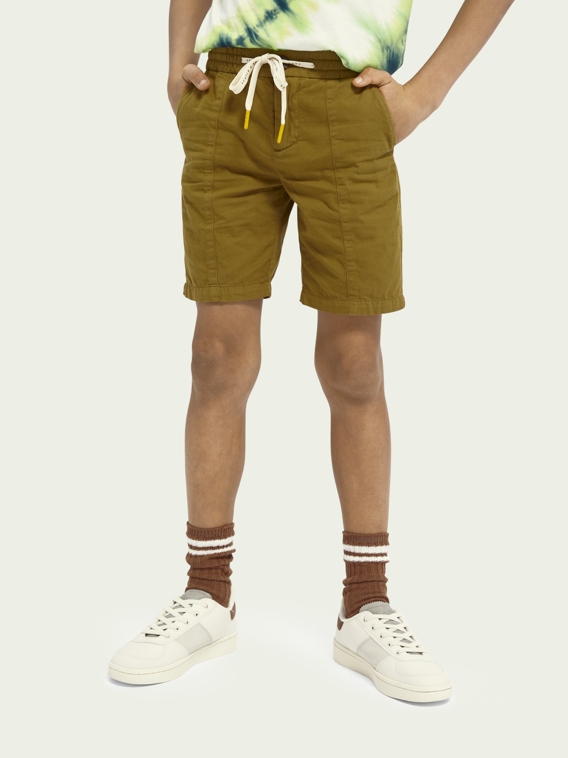 Kids Drawstring cotton shorts