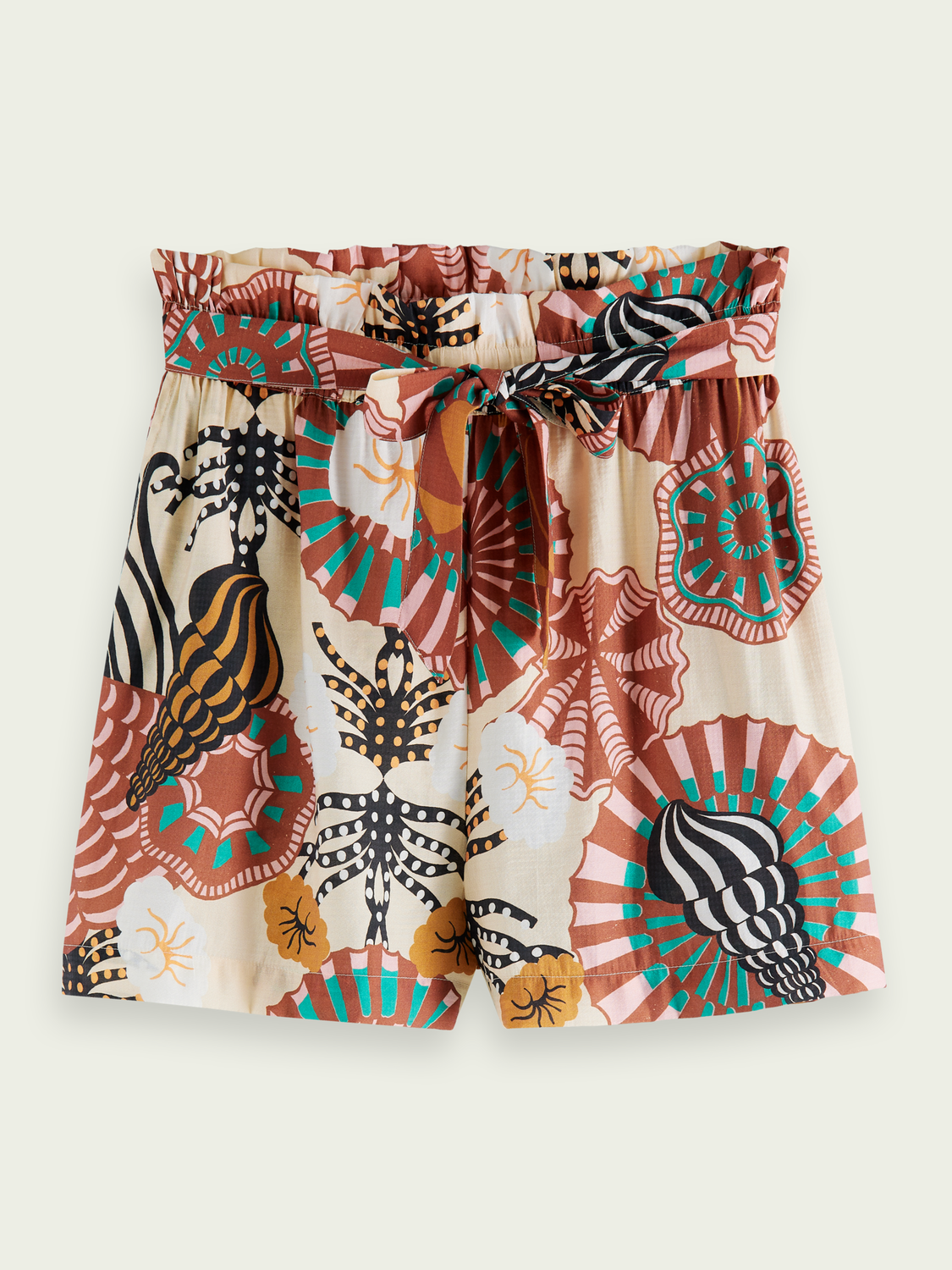 Donna Shorts high-rise con stampa