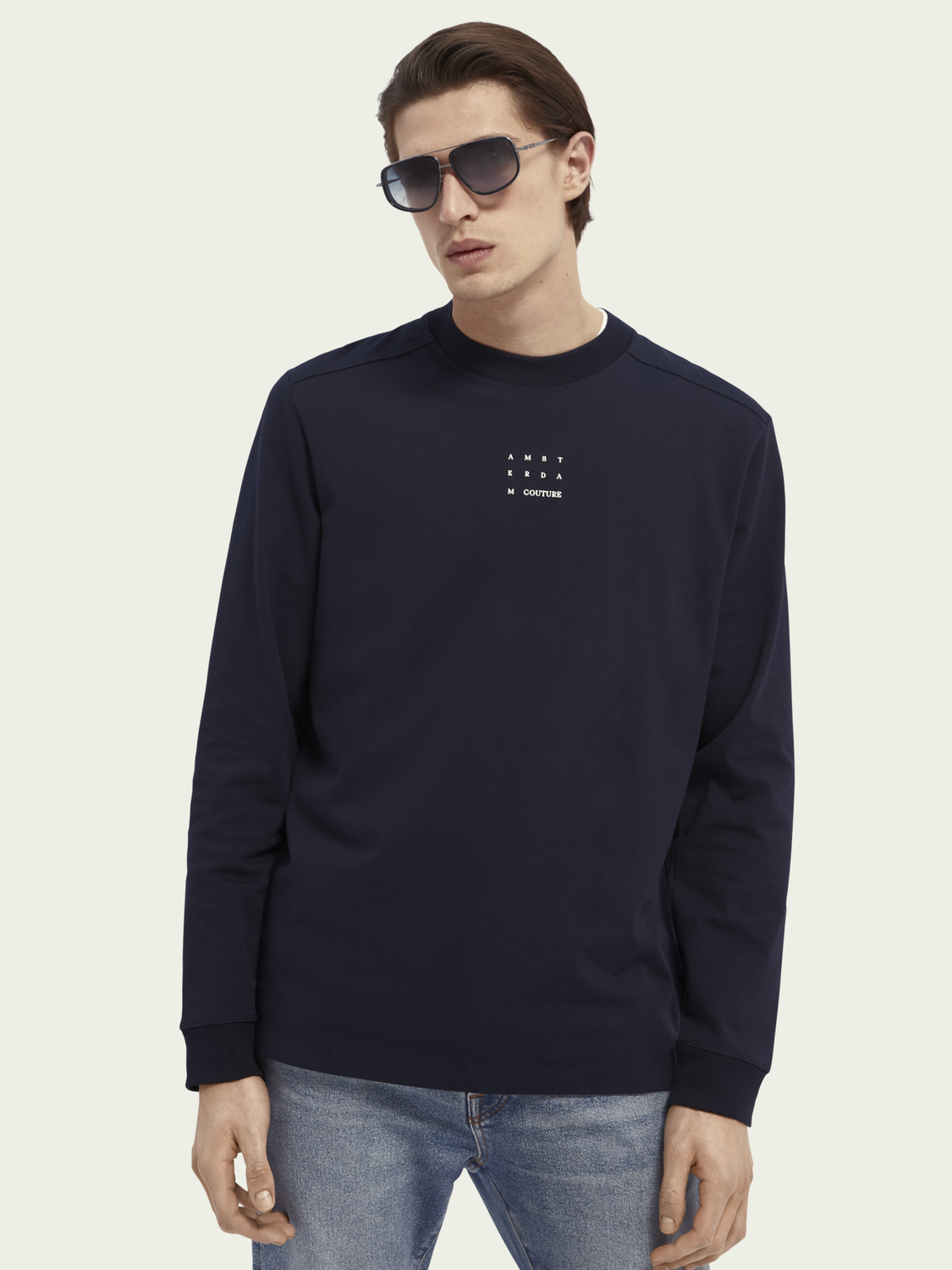 Men Long-sleeved organic cotton T-shirt