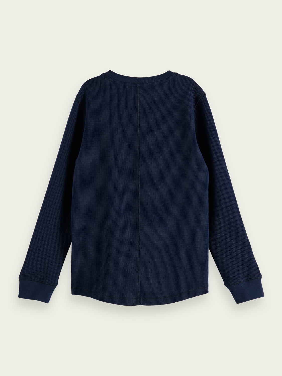 Kids Long-sleeved organic cotton waffle T-shirt