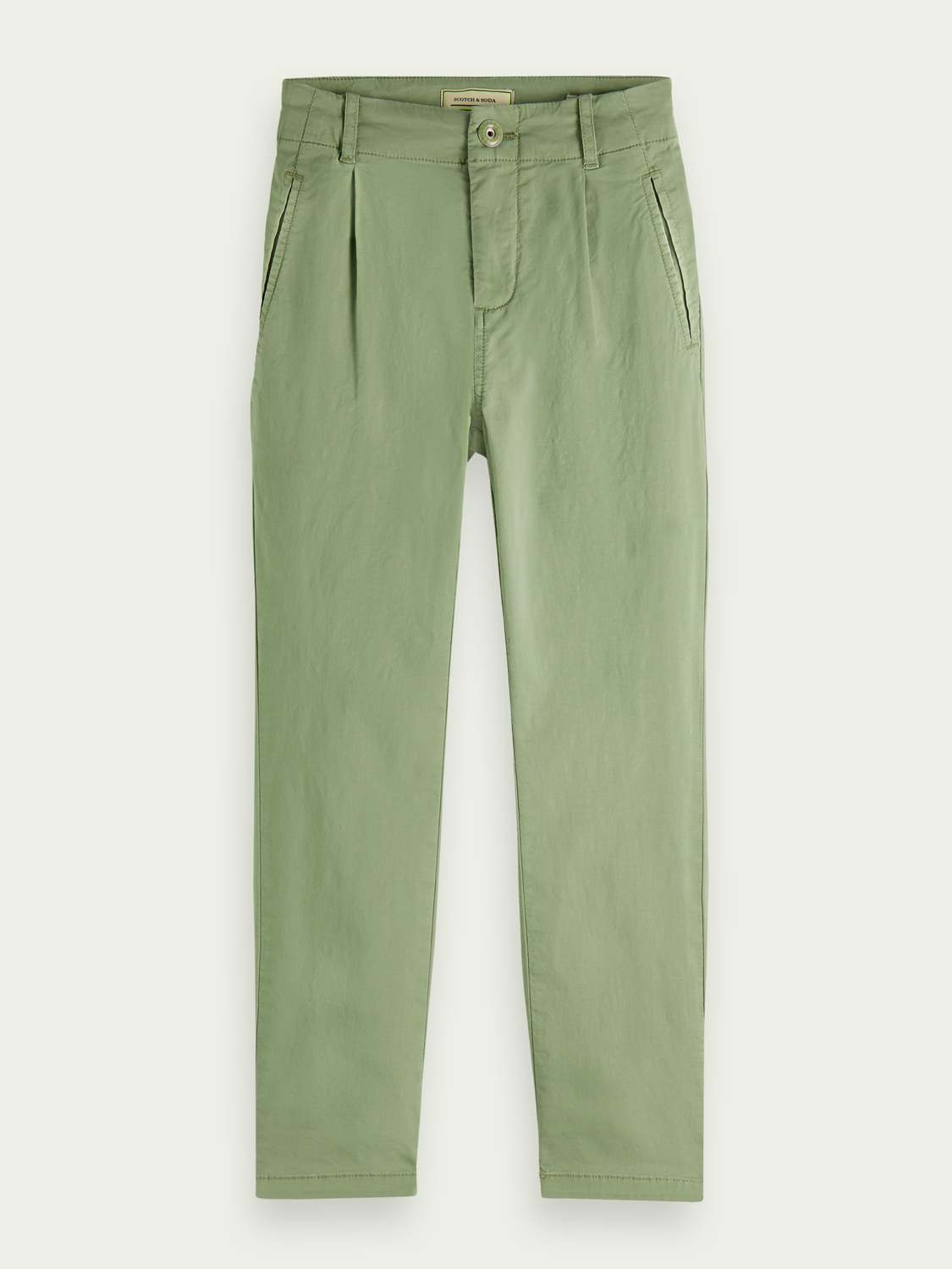 Kids Loose tapered fit cotton chino - Sea Foam