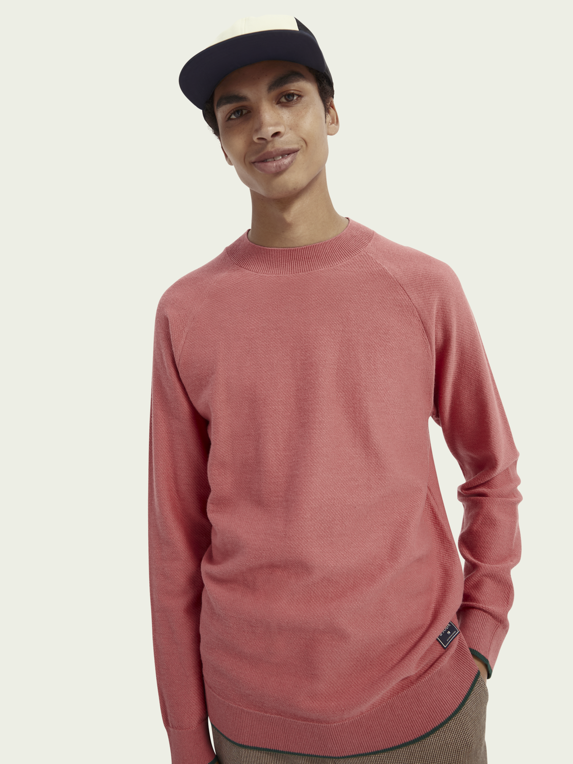 Men High-neck cotton-wool sweater