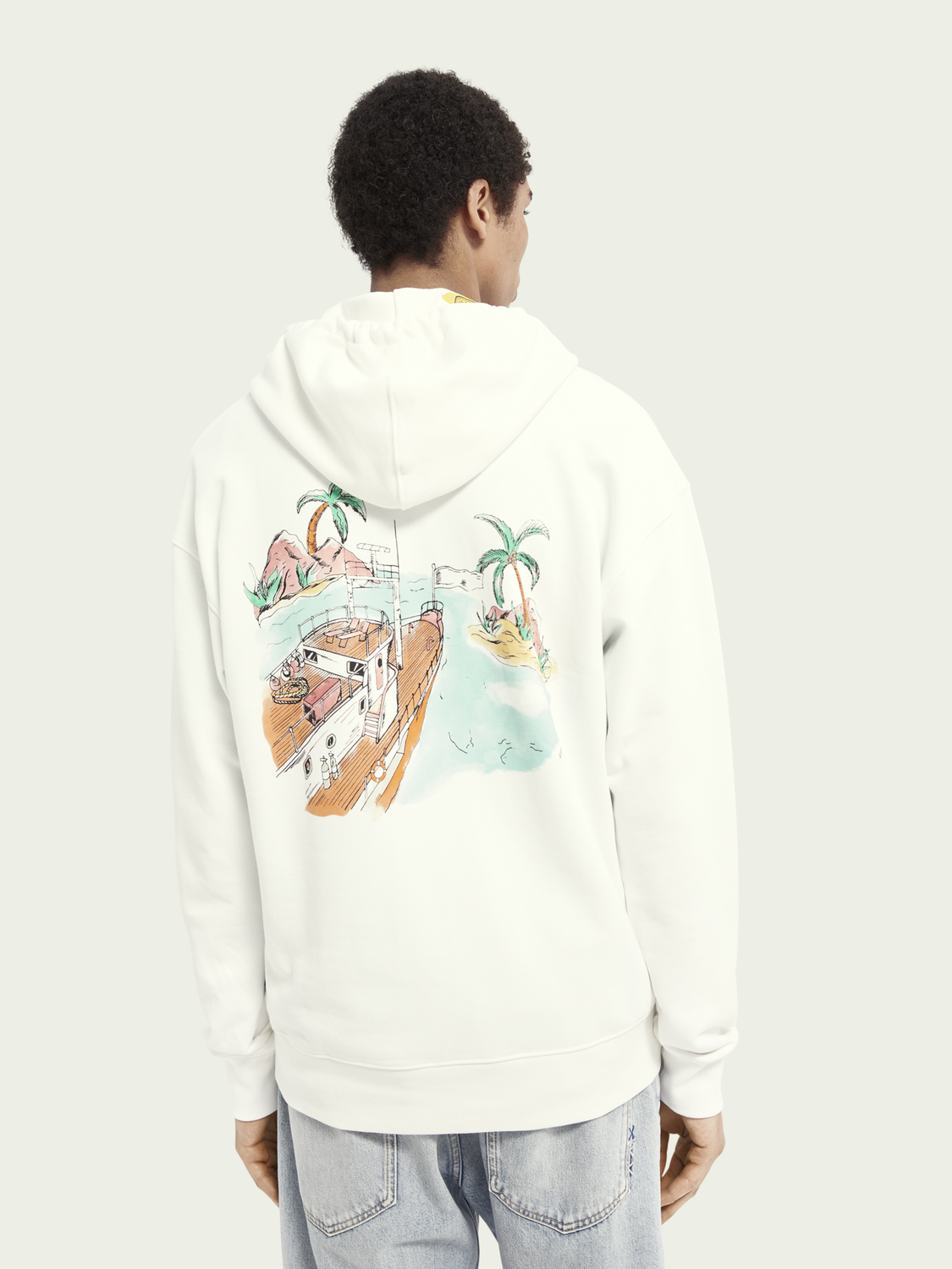 Men Relaxed organic cotton hoodie