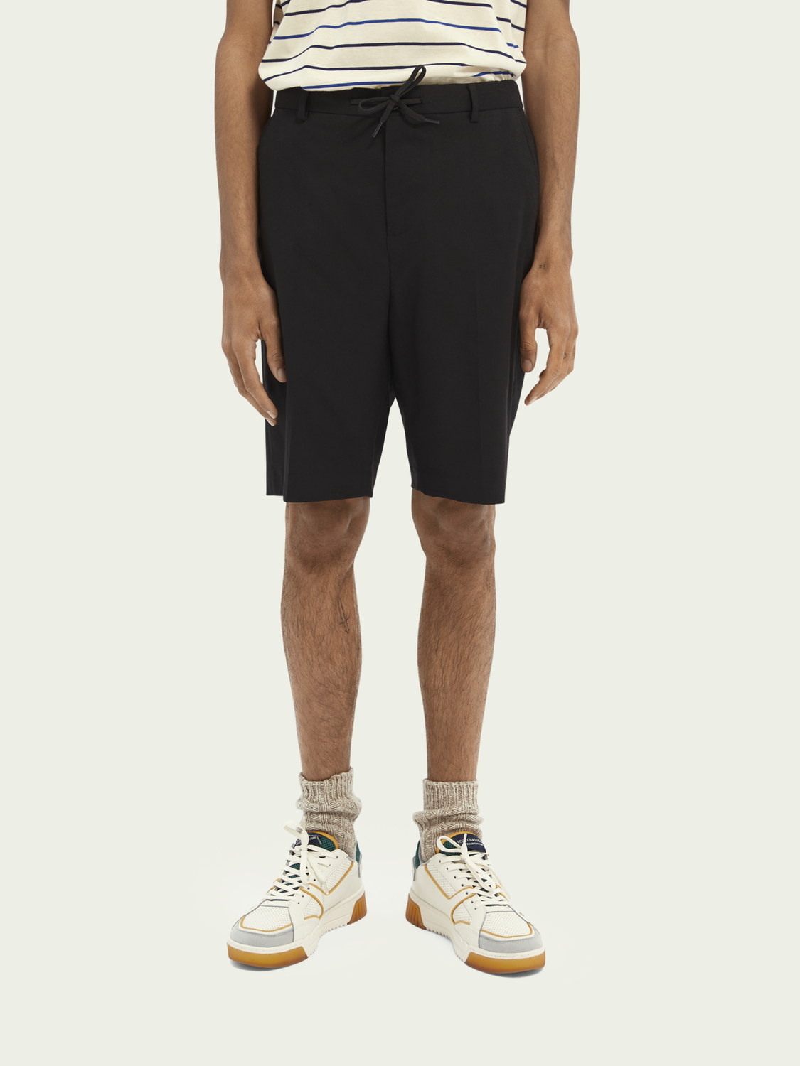Men Yarn-dyed Bermuda short