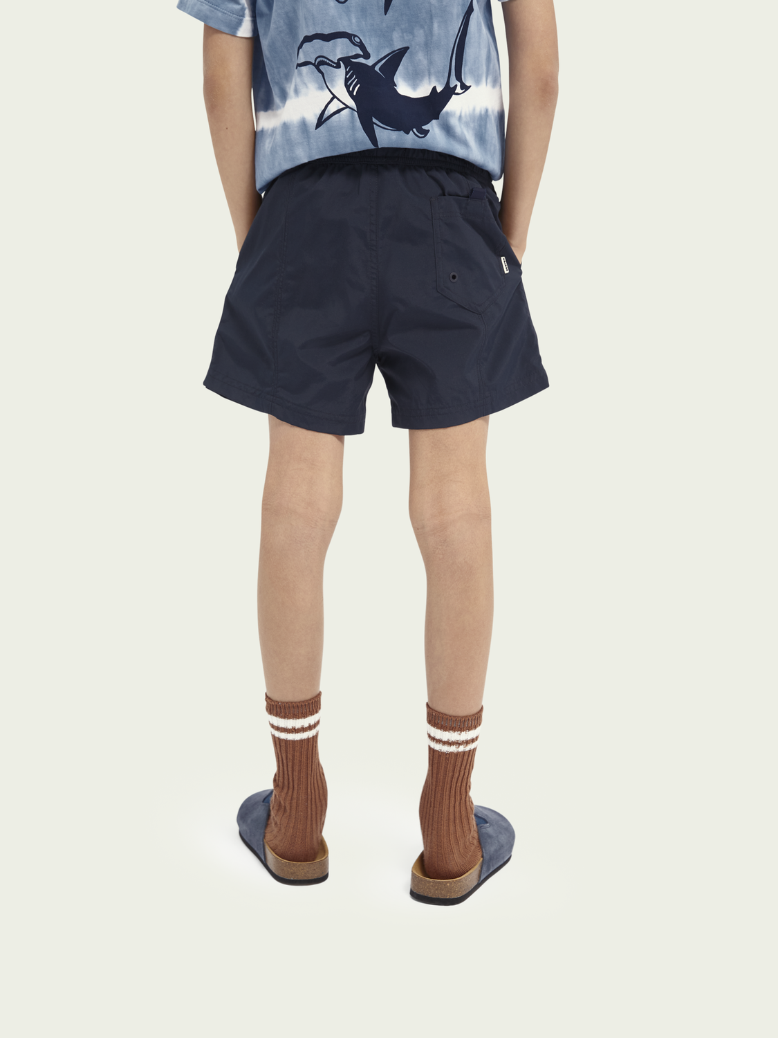 Kids Basic recycled nylon swim shorts