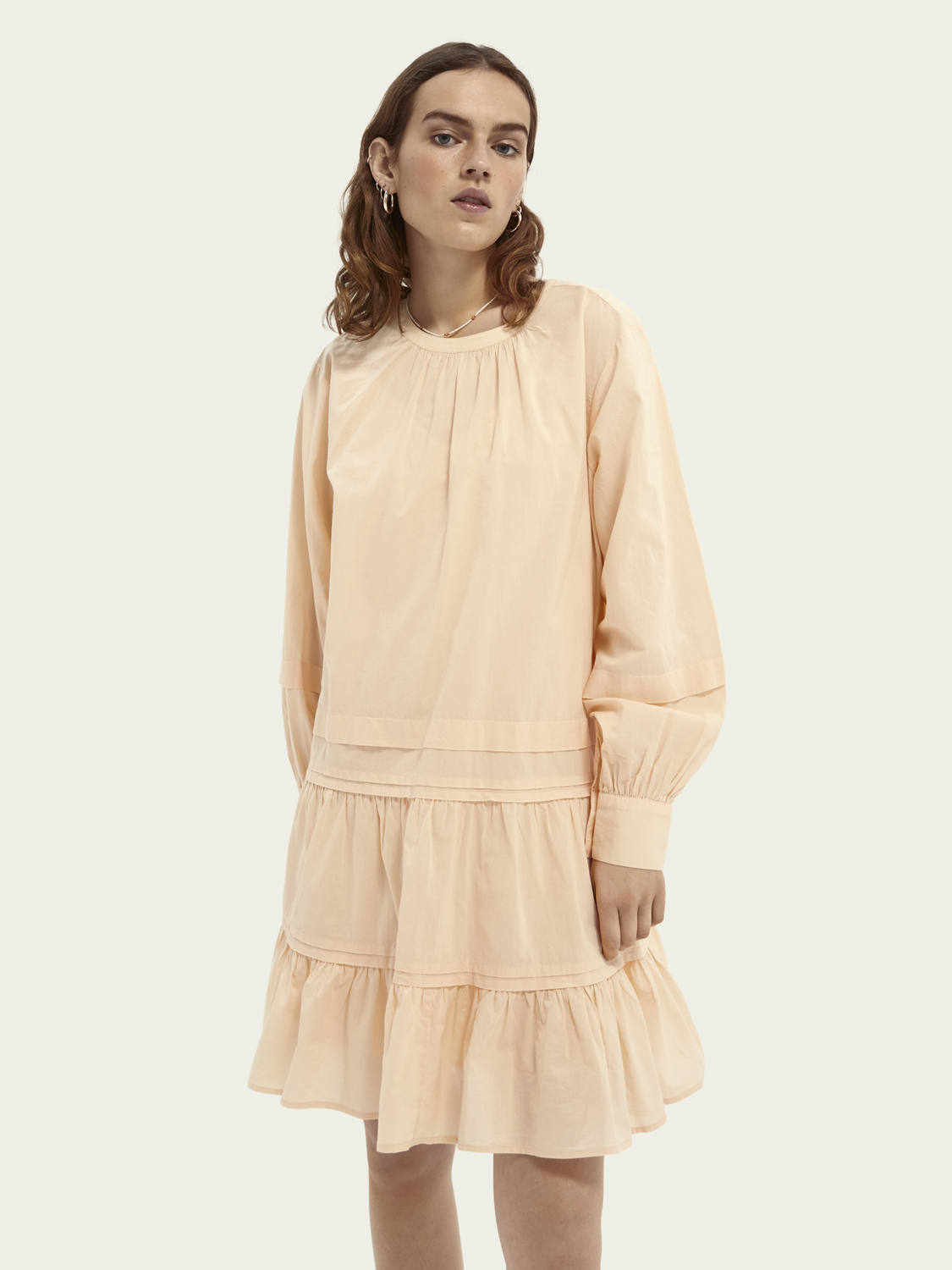 Women Lightweight organic cotton tiered dress
