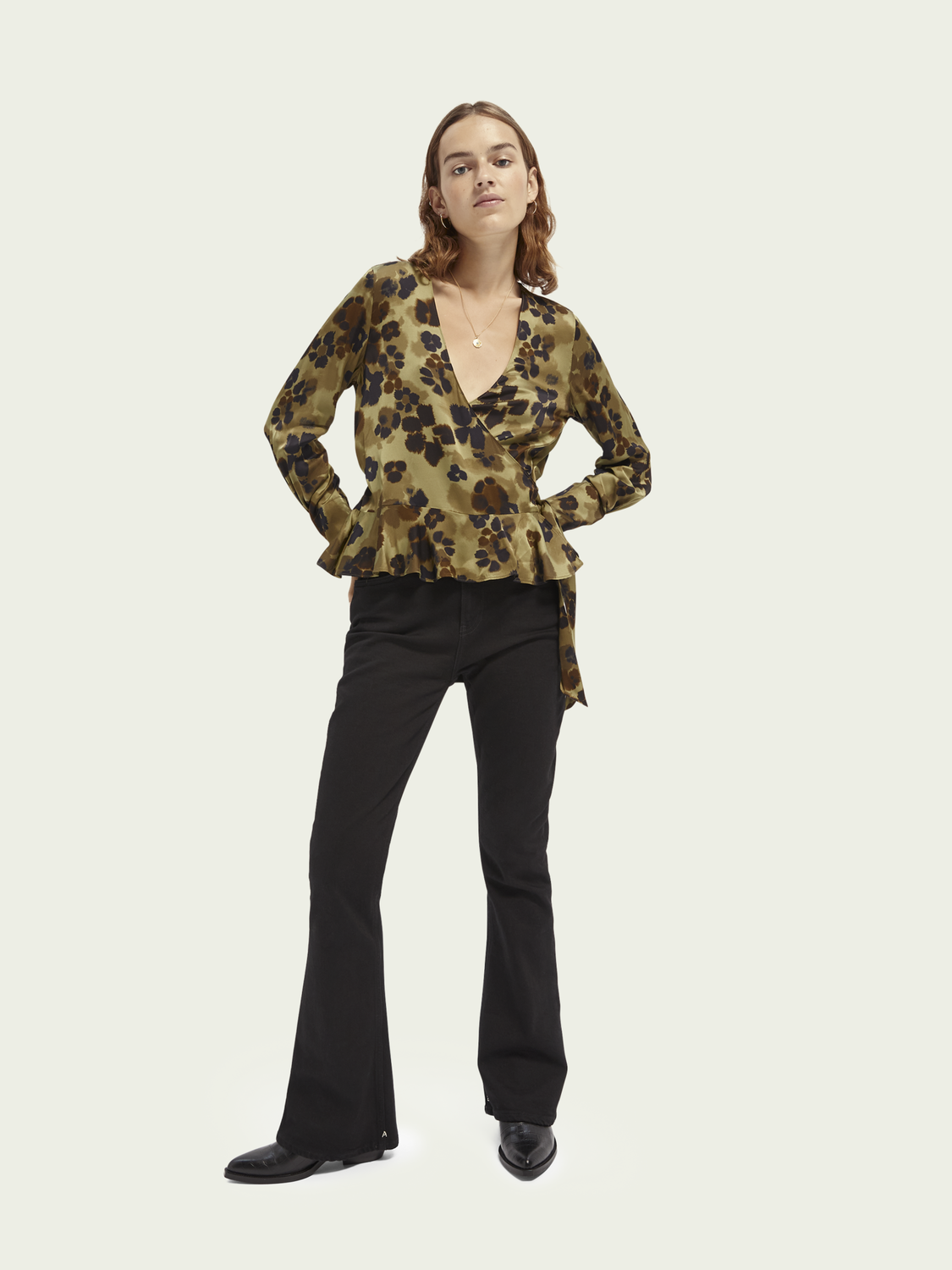 Women LENZING™ ECOVERO™ wrap top