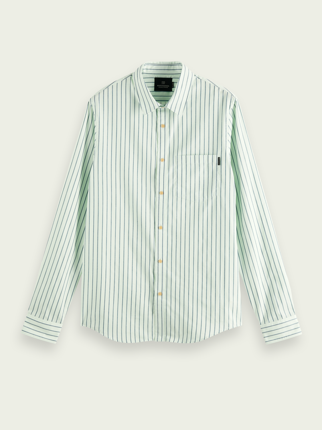 Men Patterned relaxed-fit cotton shirt