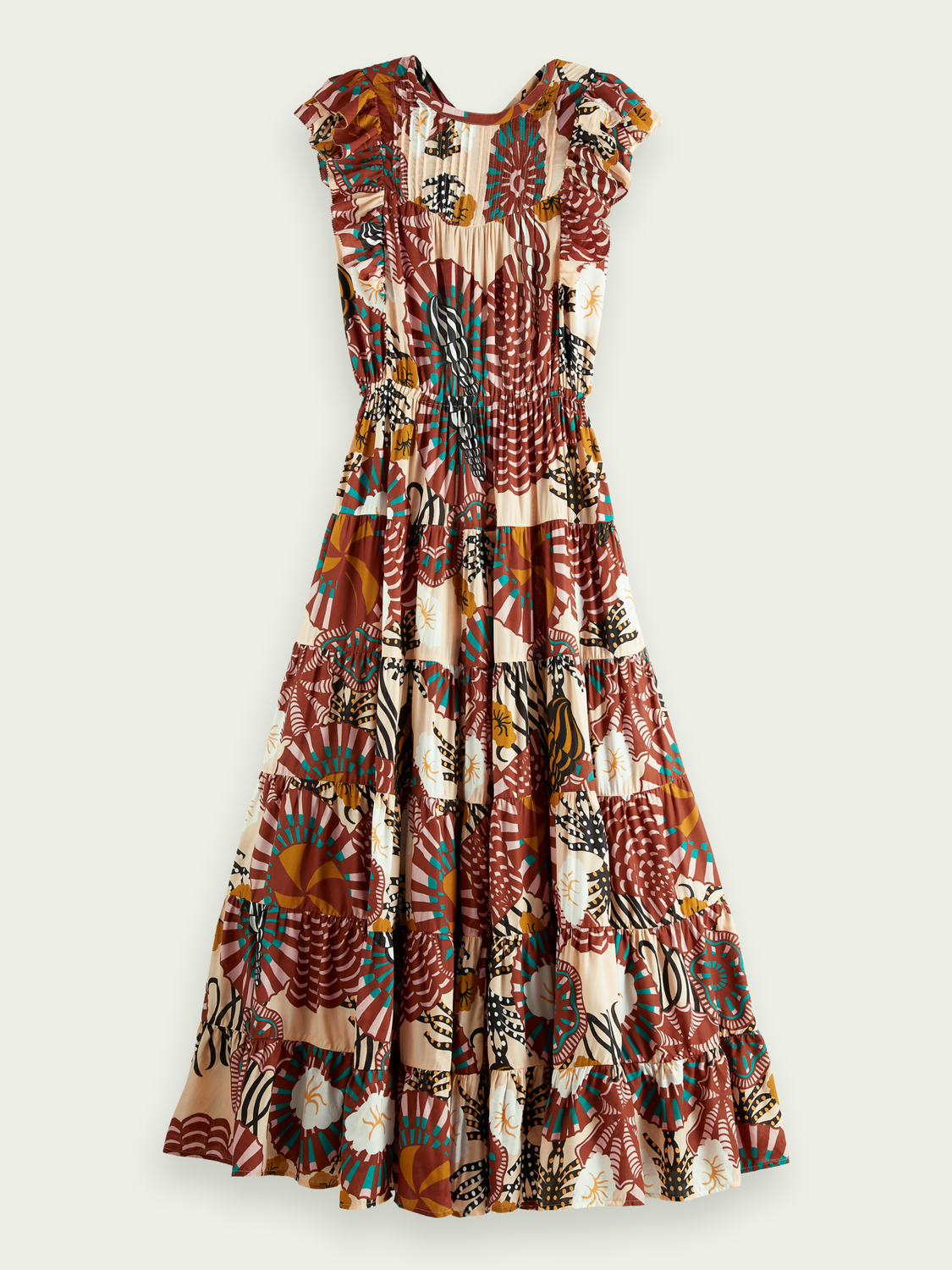 Women Printed cotton-blend  dress