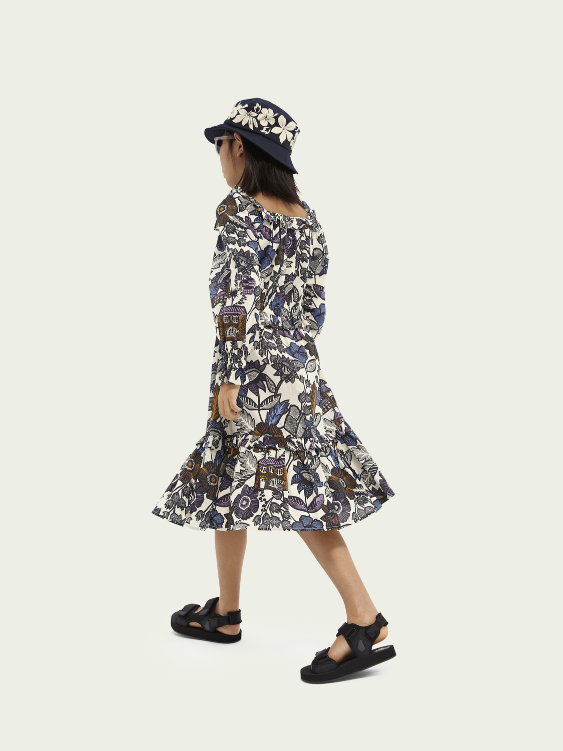 Kids Printed midi dress