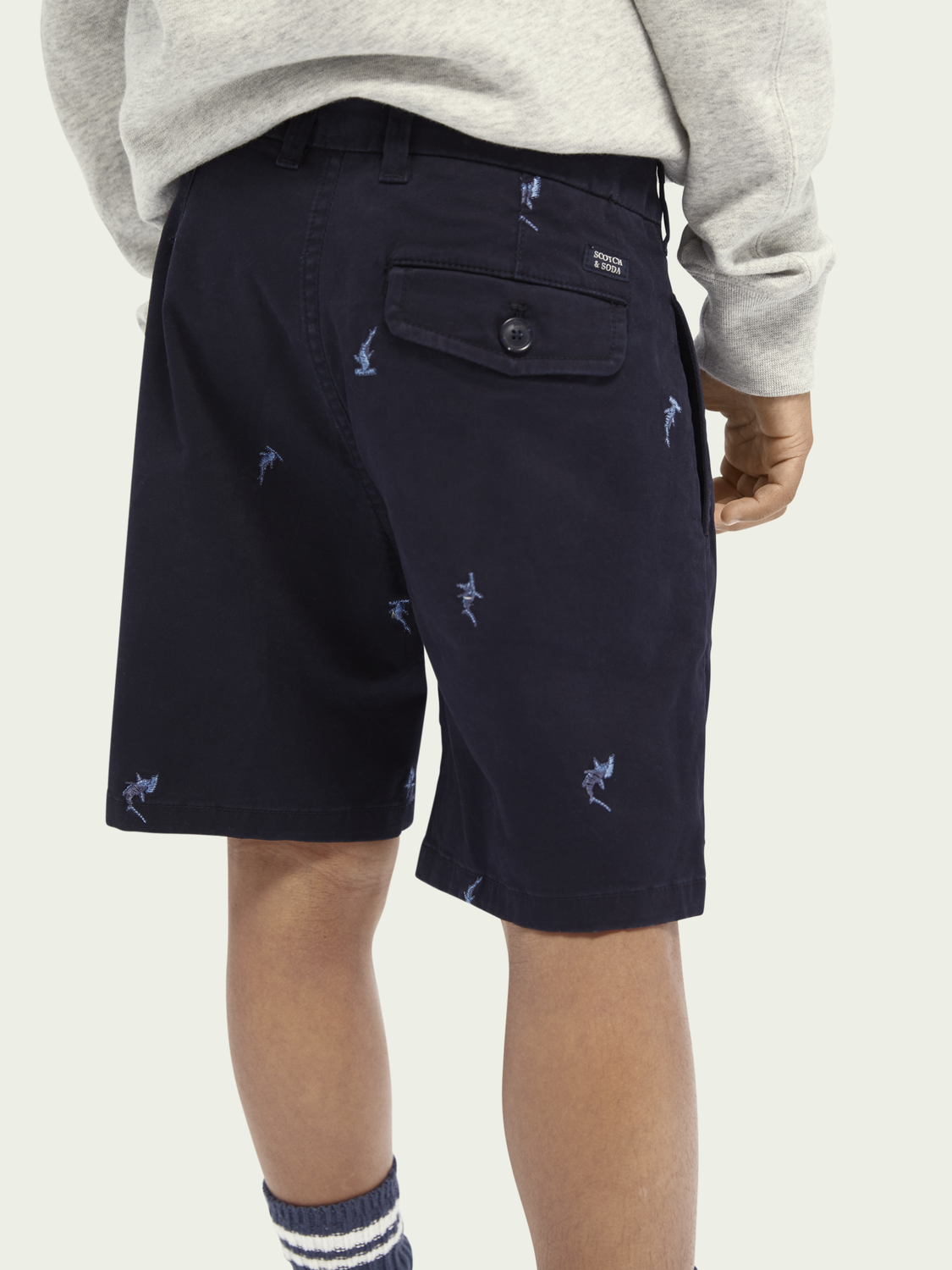 Kids All-over embroidery shorts