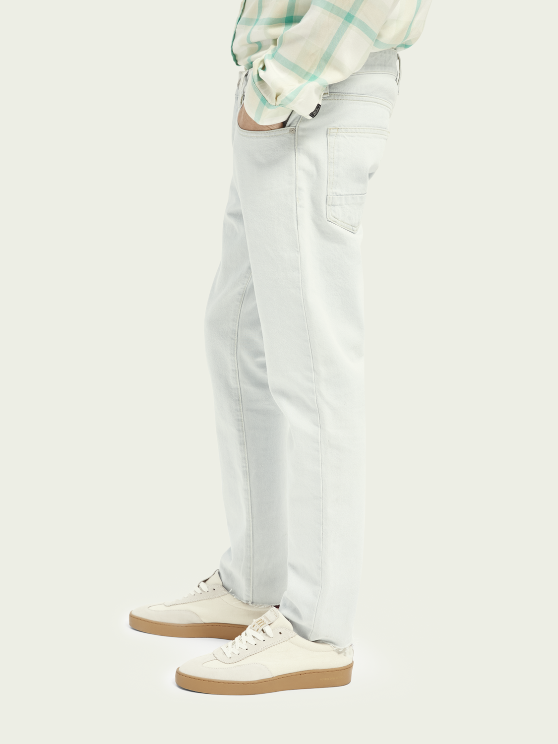 Men Ralston cropped organic cotton jeans - Spring Signal