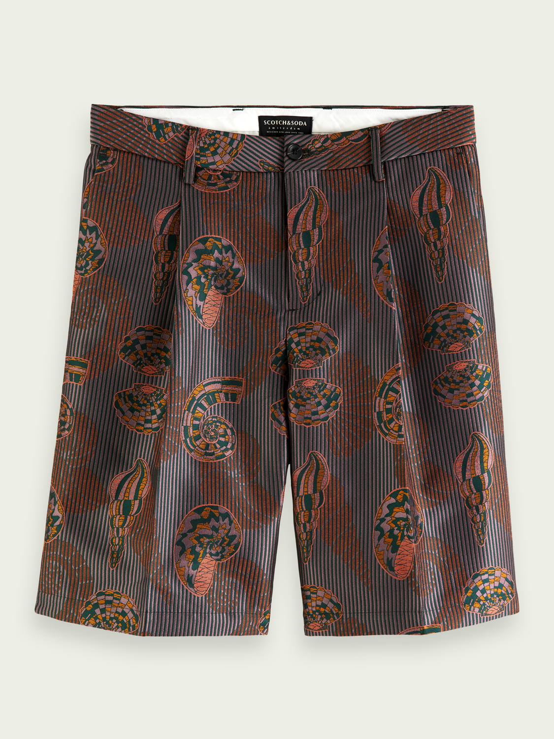 Men Relaxed-fit jacquard Bermuda shorts