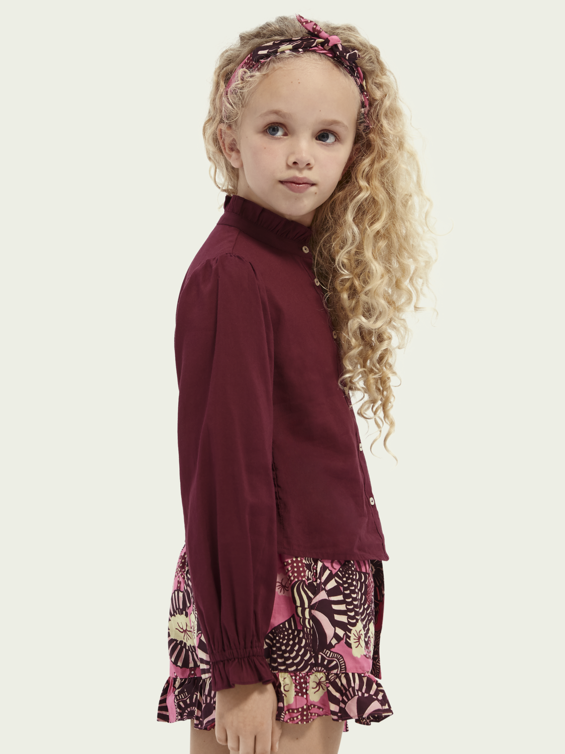 Kids Wide-fit lightweight cotton blouse