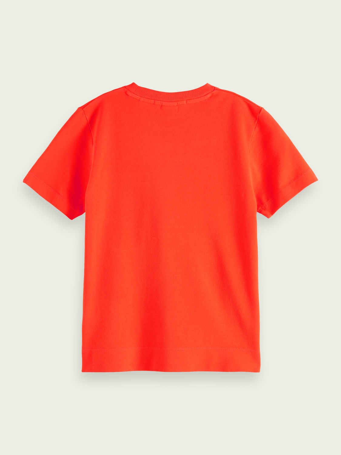 Kids Garment dyed short-sleeved piqué T-shirt