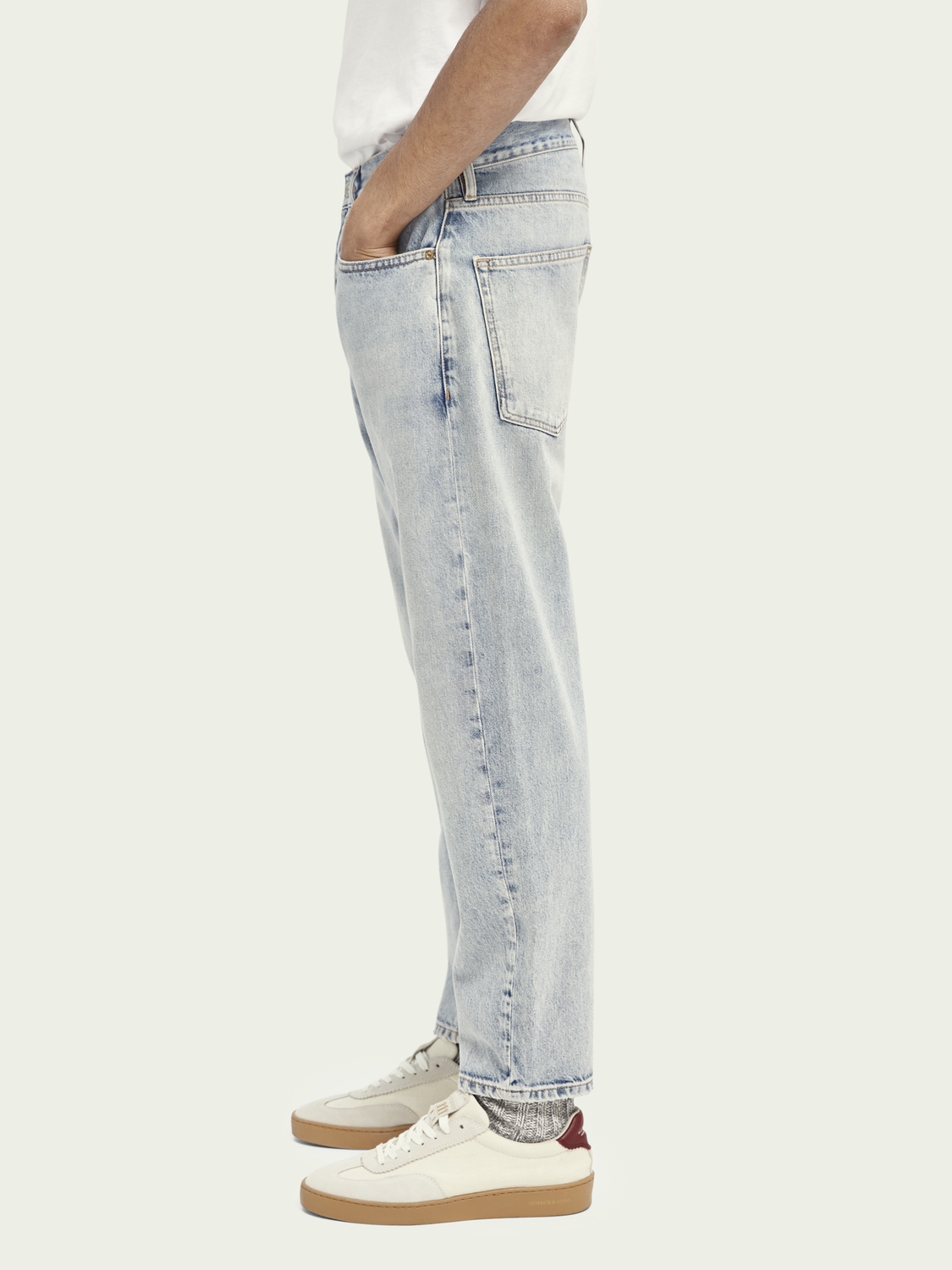 Men Dean organic cotton loose tapered fit jeans - Another Chance