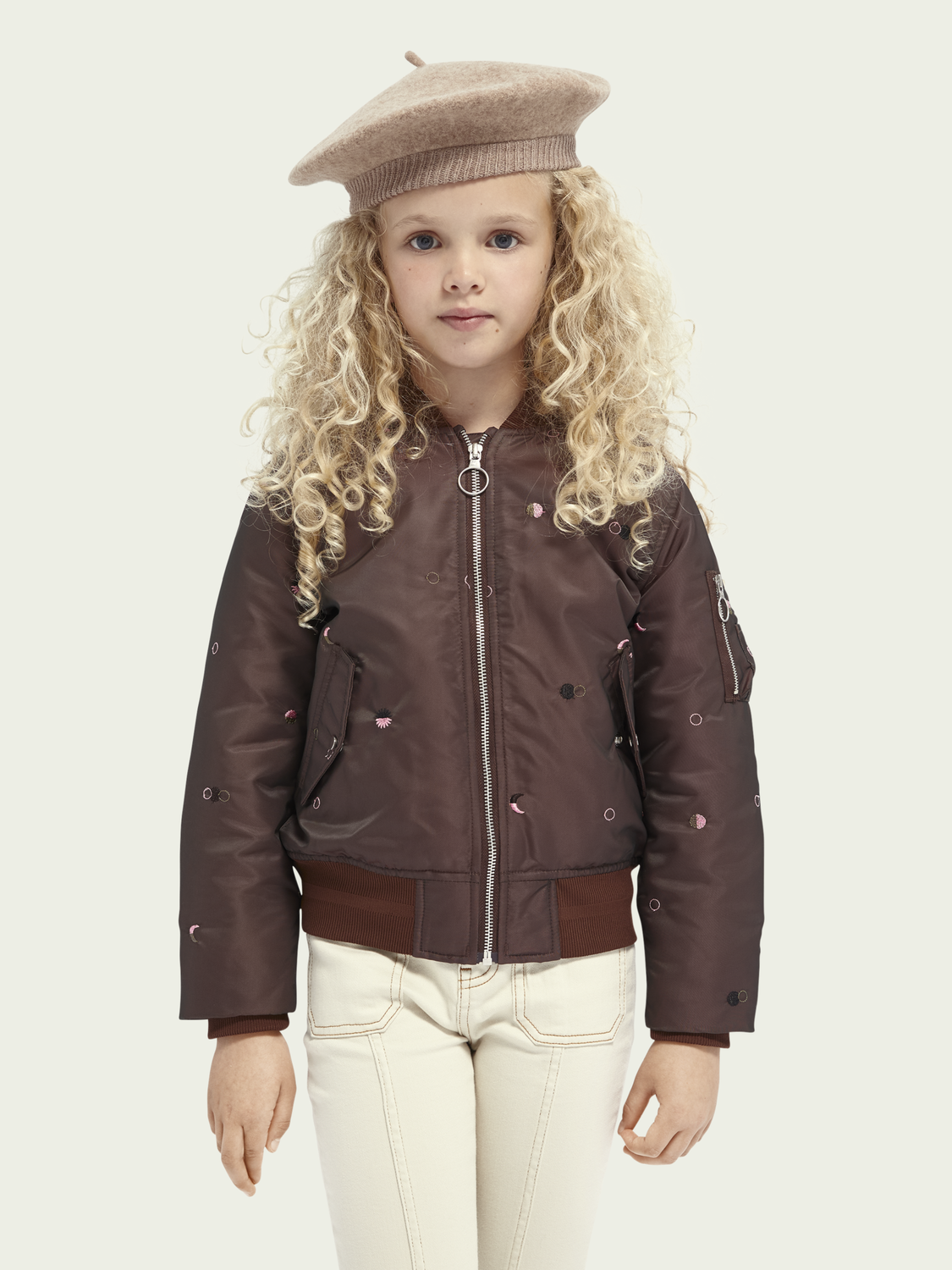 Kids Embroidered bomber jacket