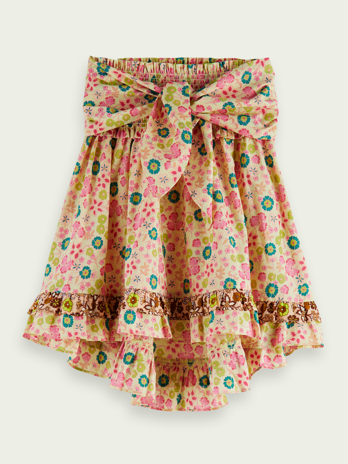Kids Ruffled smocked waist midi skirt
