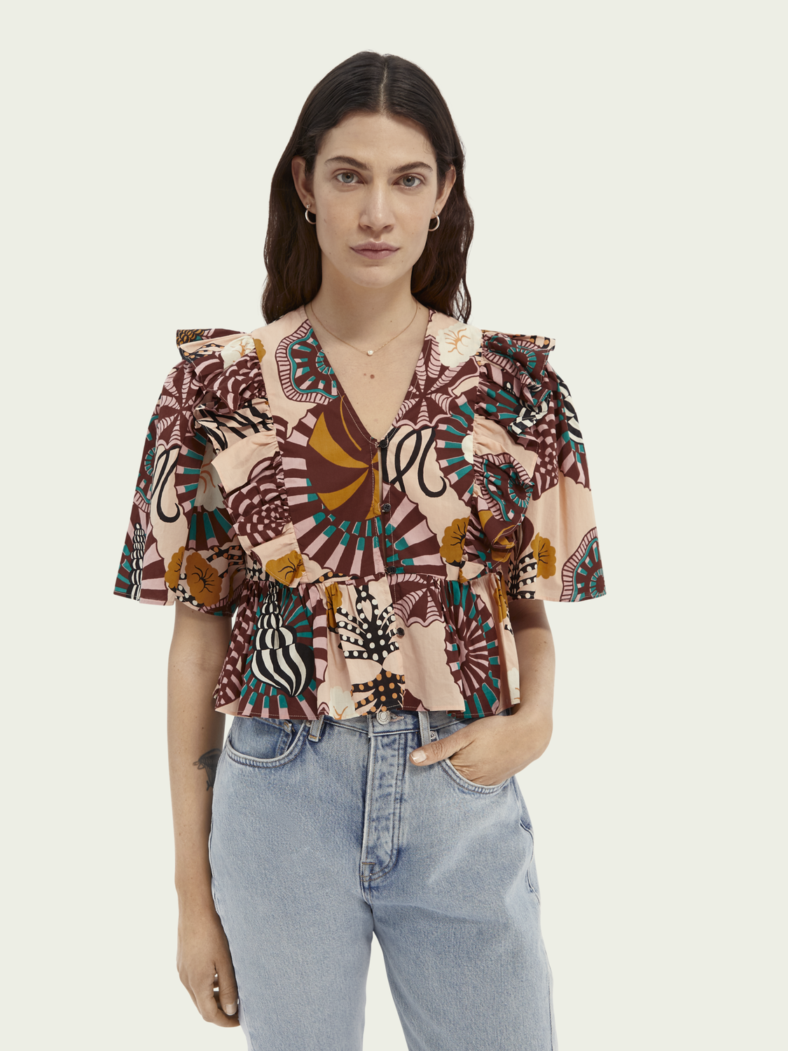 Women Printed cotton top